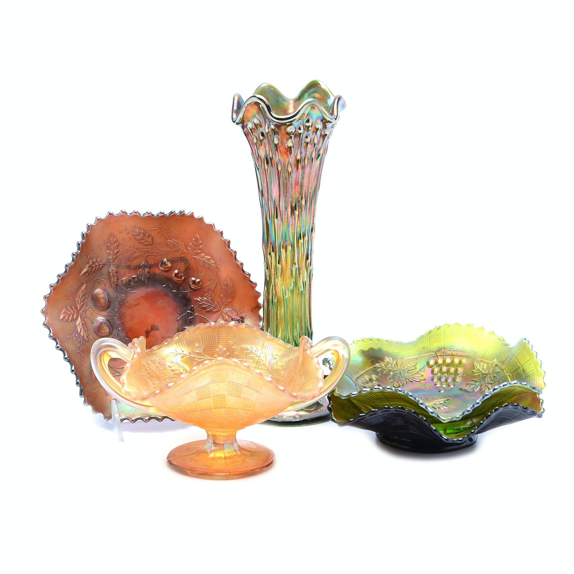 Assorted Vintage Carnival Glass Lot