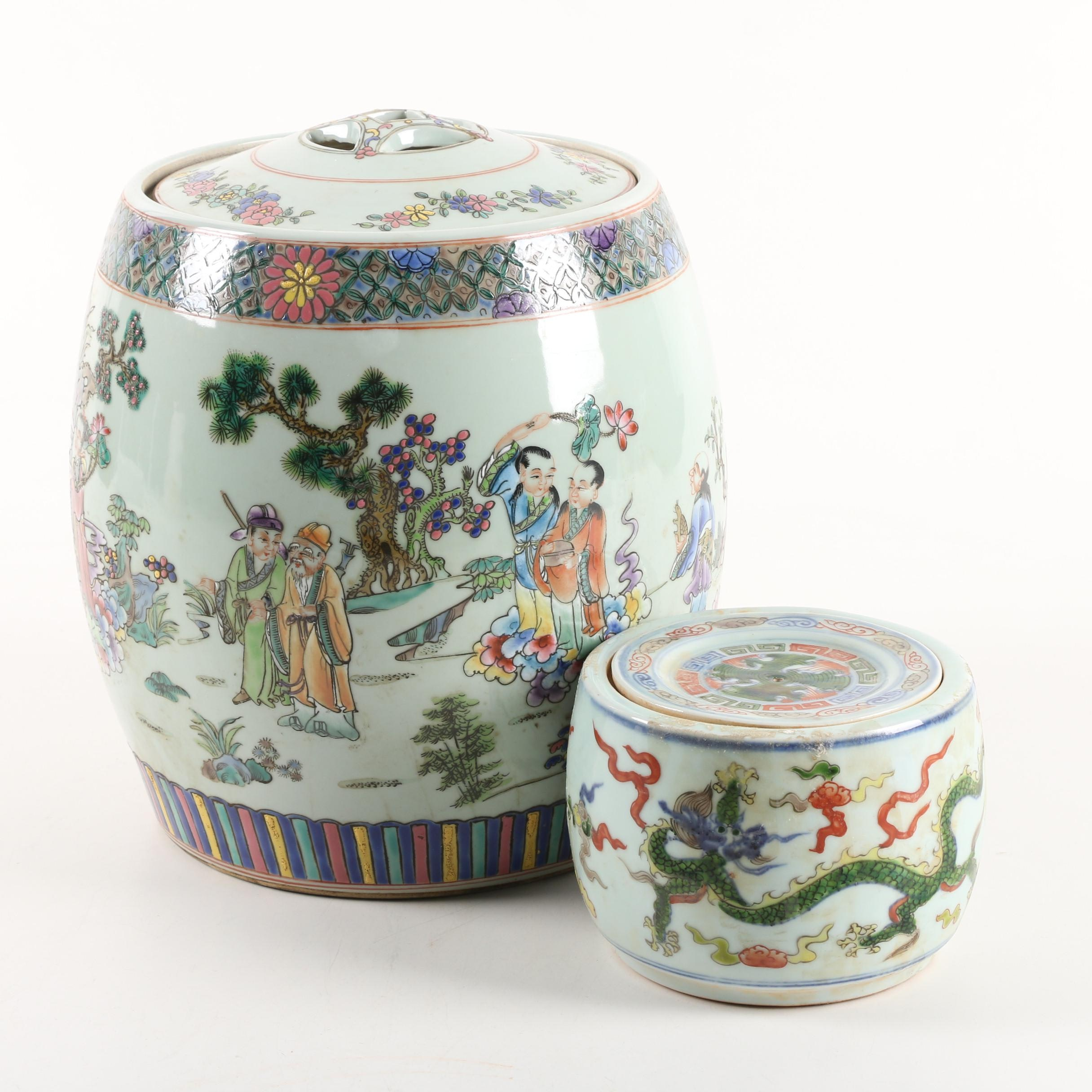 Chinese Porcelain Lidded Containers