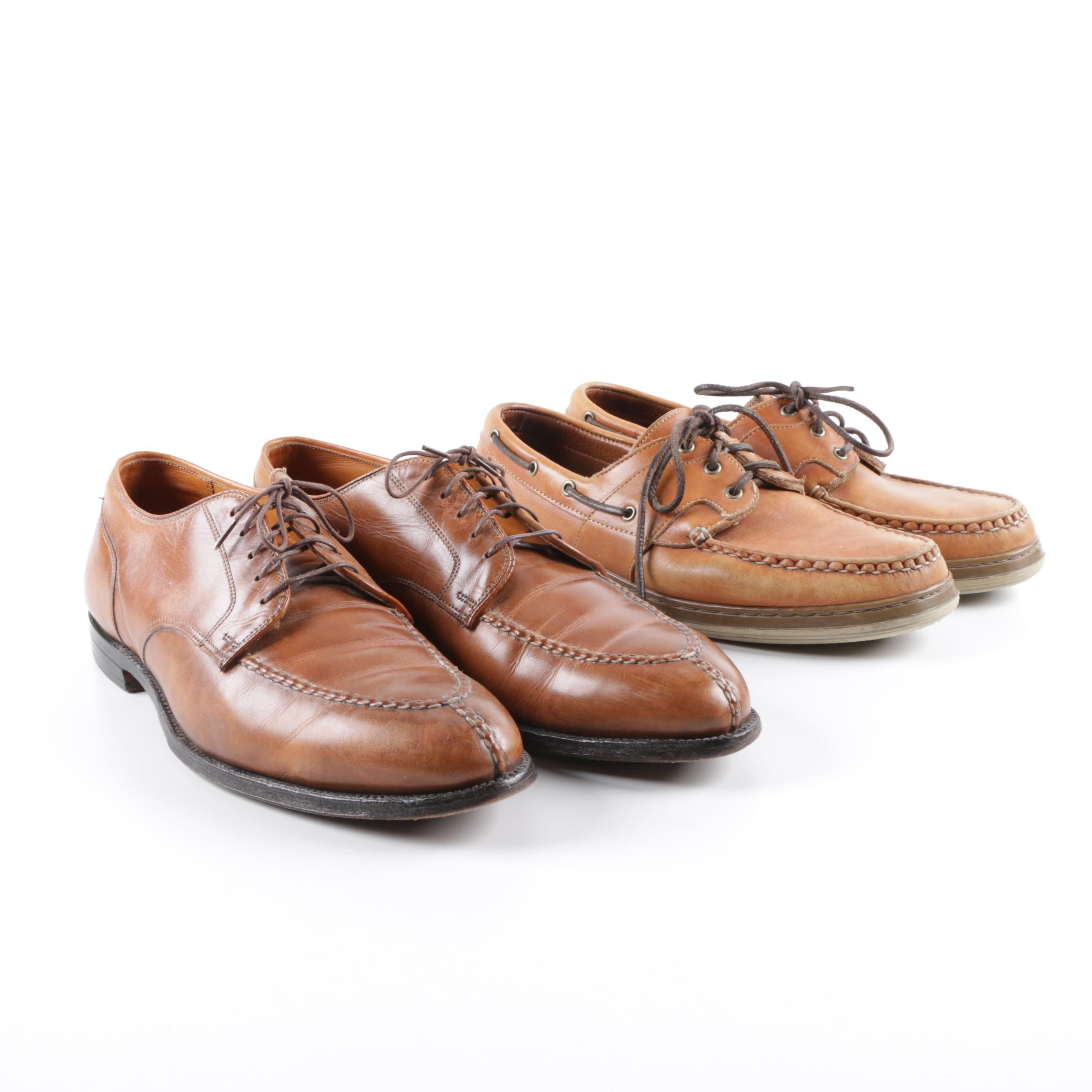 Men's Alden and Allen Edmonds Tan and Brown Leather Dress Shoes