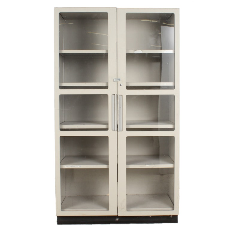 Metal and Glass Storage Cabinet