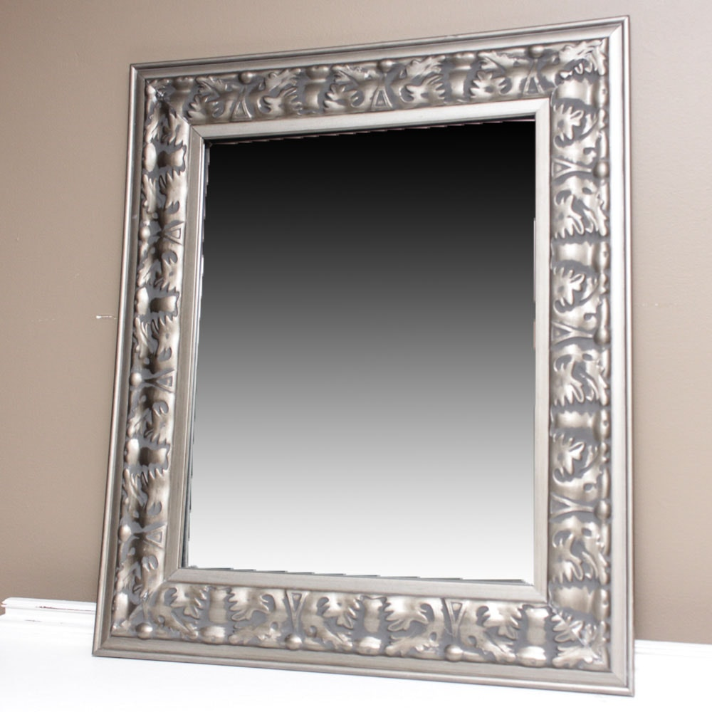 Contemporary Wooden Framed Wall Mirror