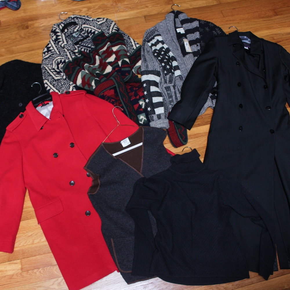 Women's Sweaters and Outerwear Including Ralph Lauren