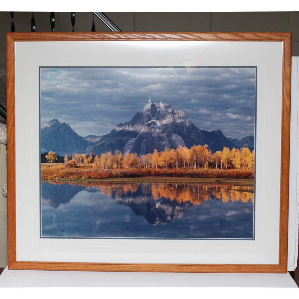 "Thomas D. Mangelsen Limited Edition Photographic Print ""Mt. Moran & Oxbow Bend"""