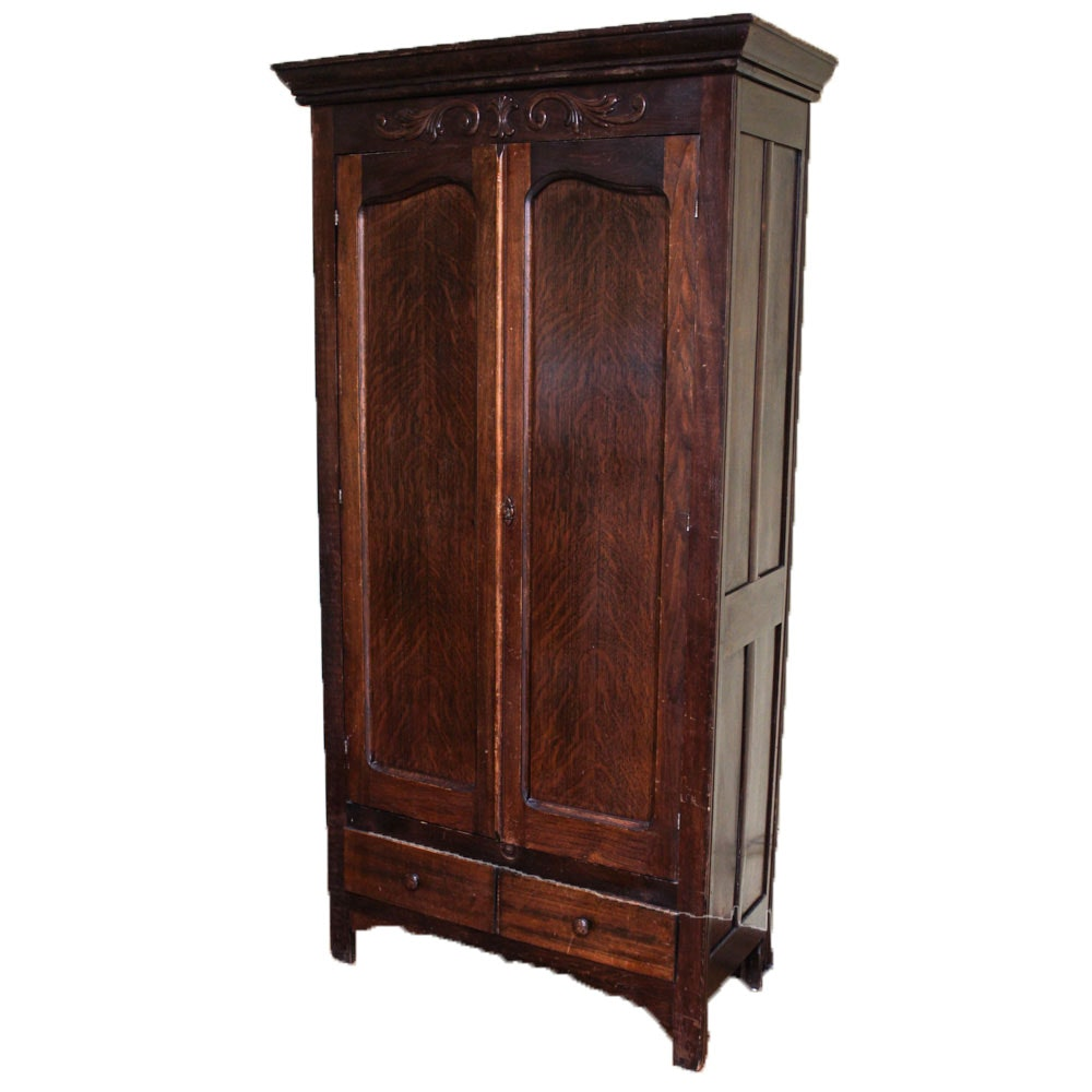 Antique French Country Style Wardrobe