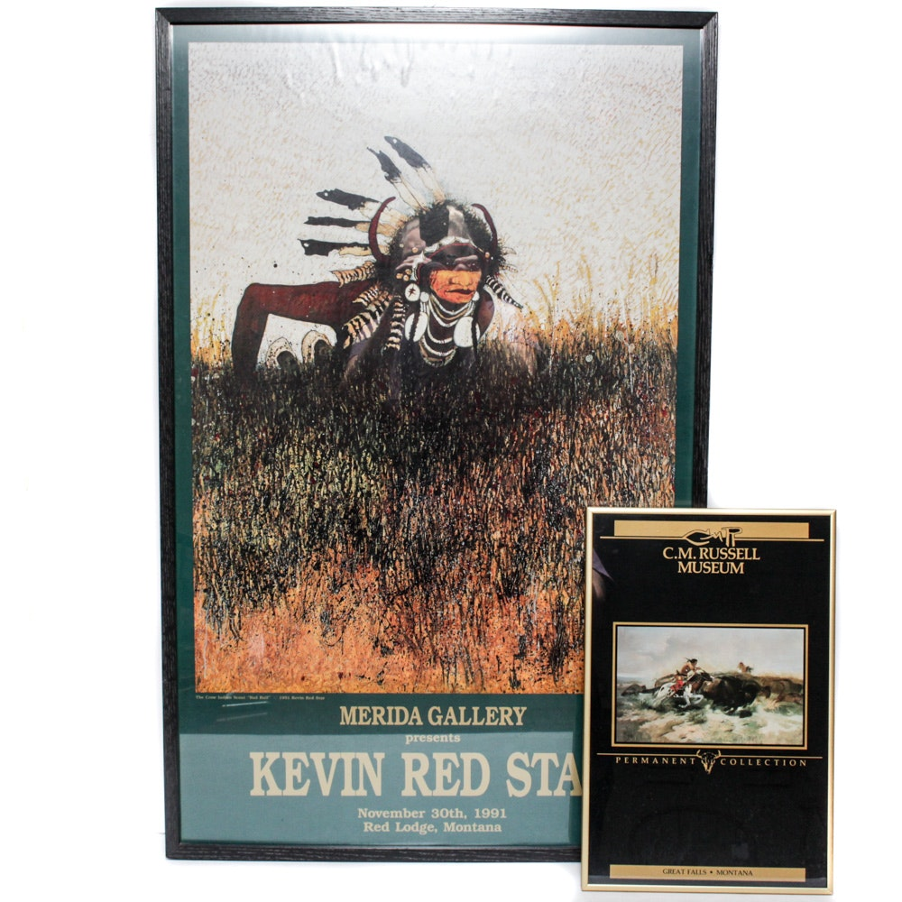 Kevin Red Star and C.M. Russell Exhibition Posters