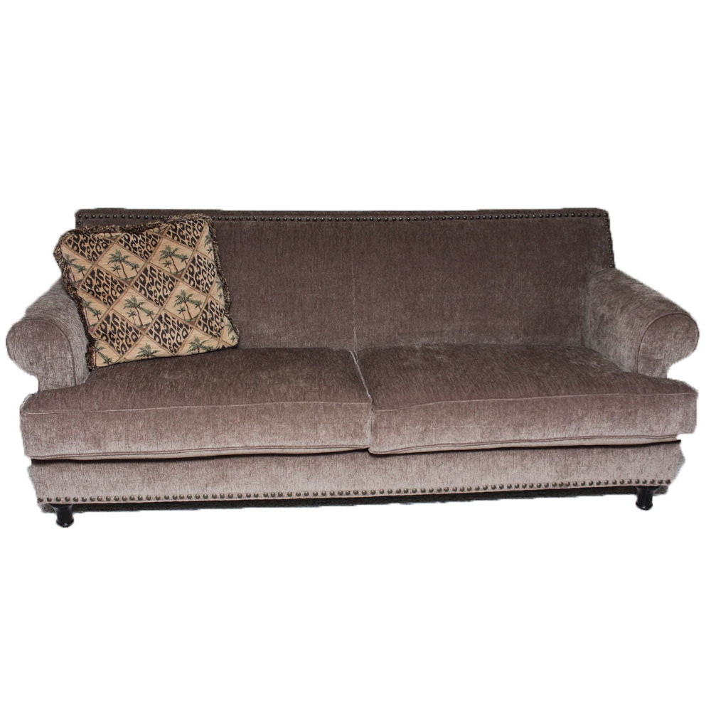 Contemporary Chenille Upholstered Sofa