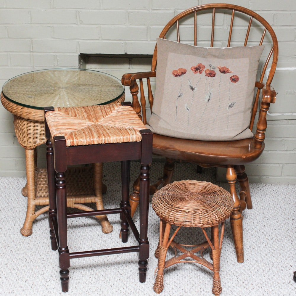 Vintage Windsor Armchair and Accent Furnishings