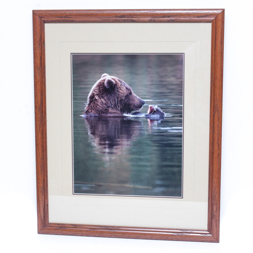 "Thomas D. Mangelsen Limited Edition Photographic Print ""The Fishing Hole..."""