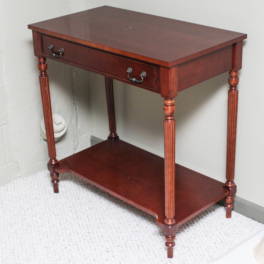 Cherry Finished Console Table