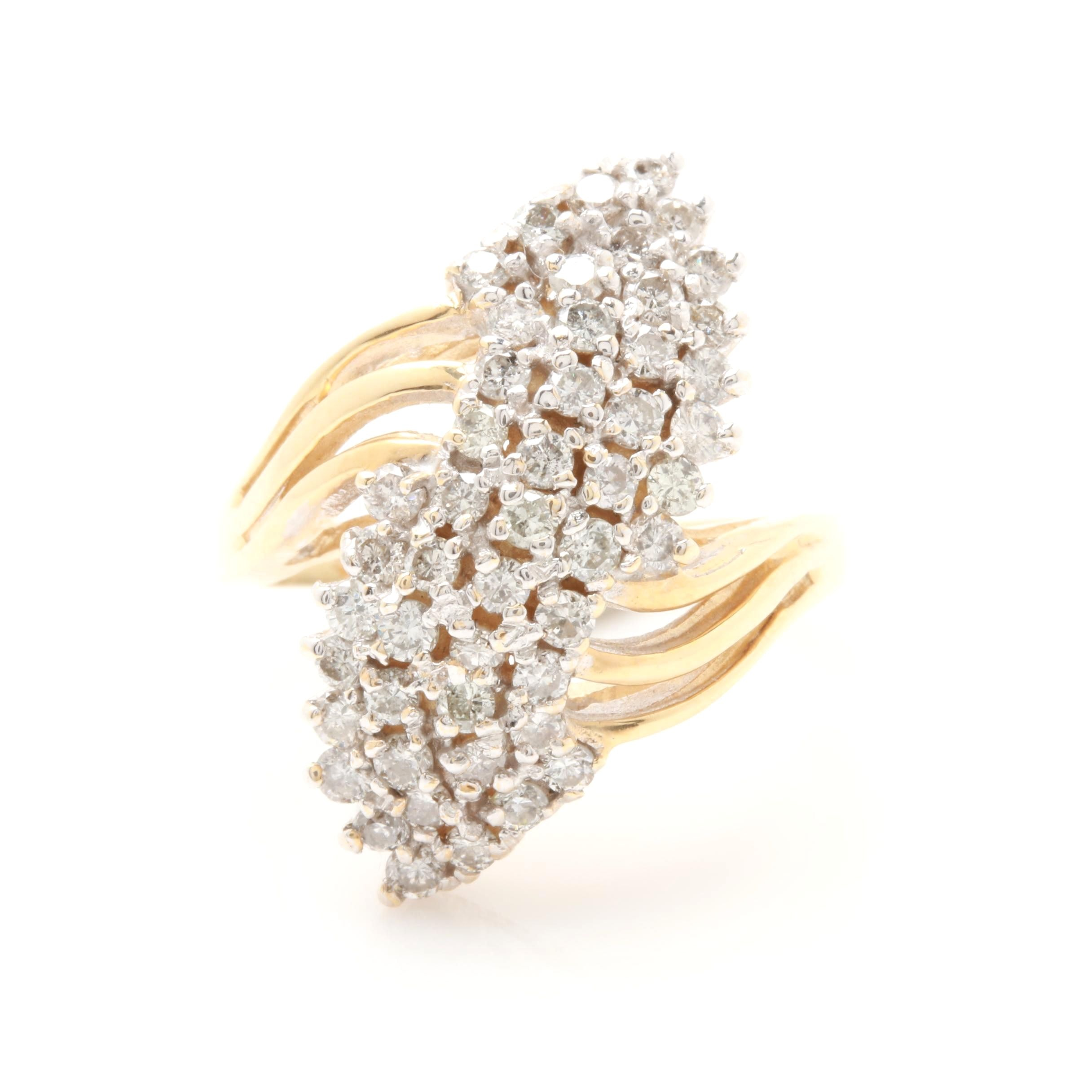 14K Yellow Gold 1.00 CTW Diamond Ring
