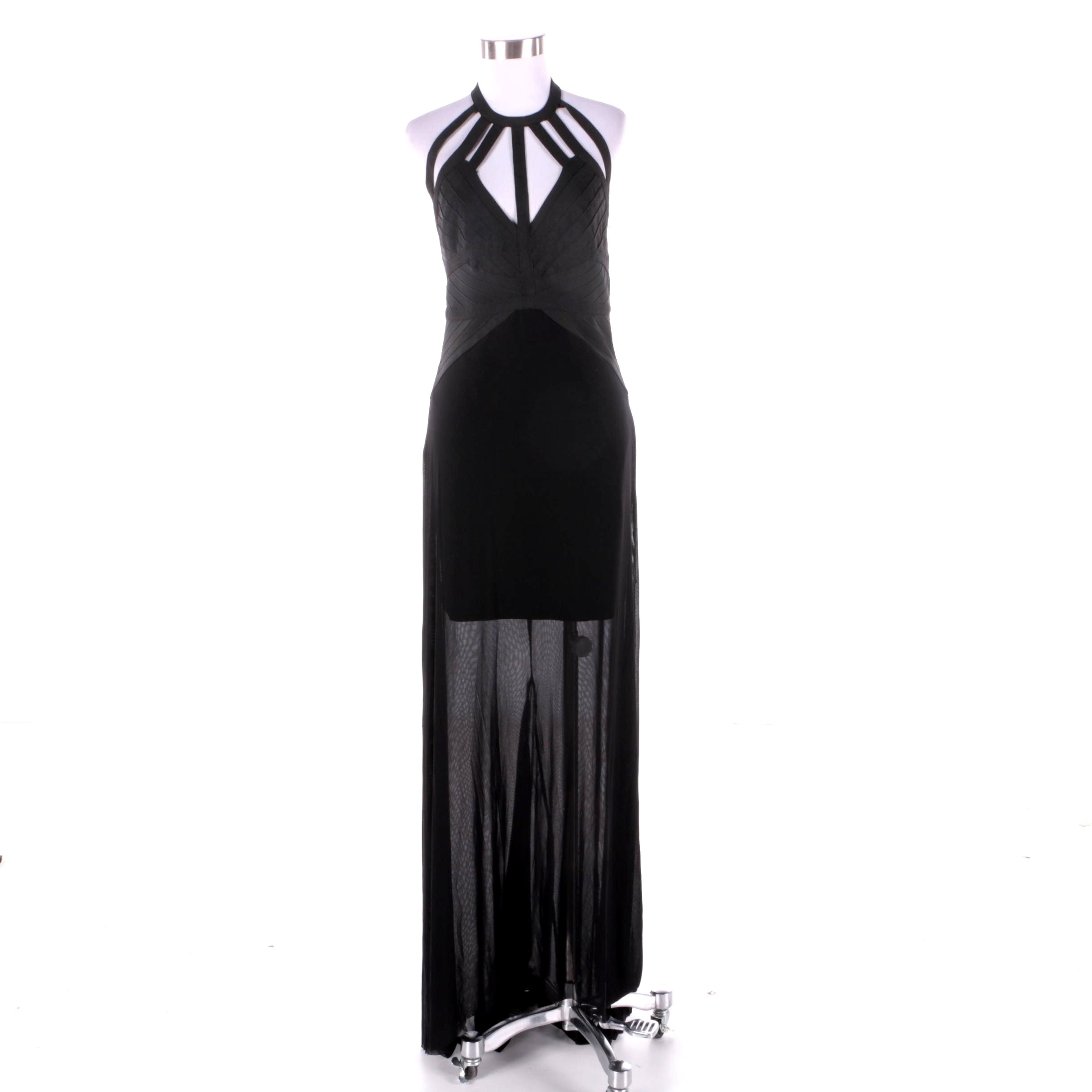 Gold Label Wow Couture Black Maxi Dress