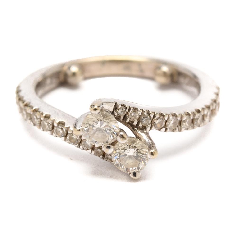 """14K White Gold Diamond """"Ever Us"""" Ring"""
