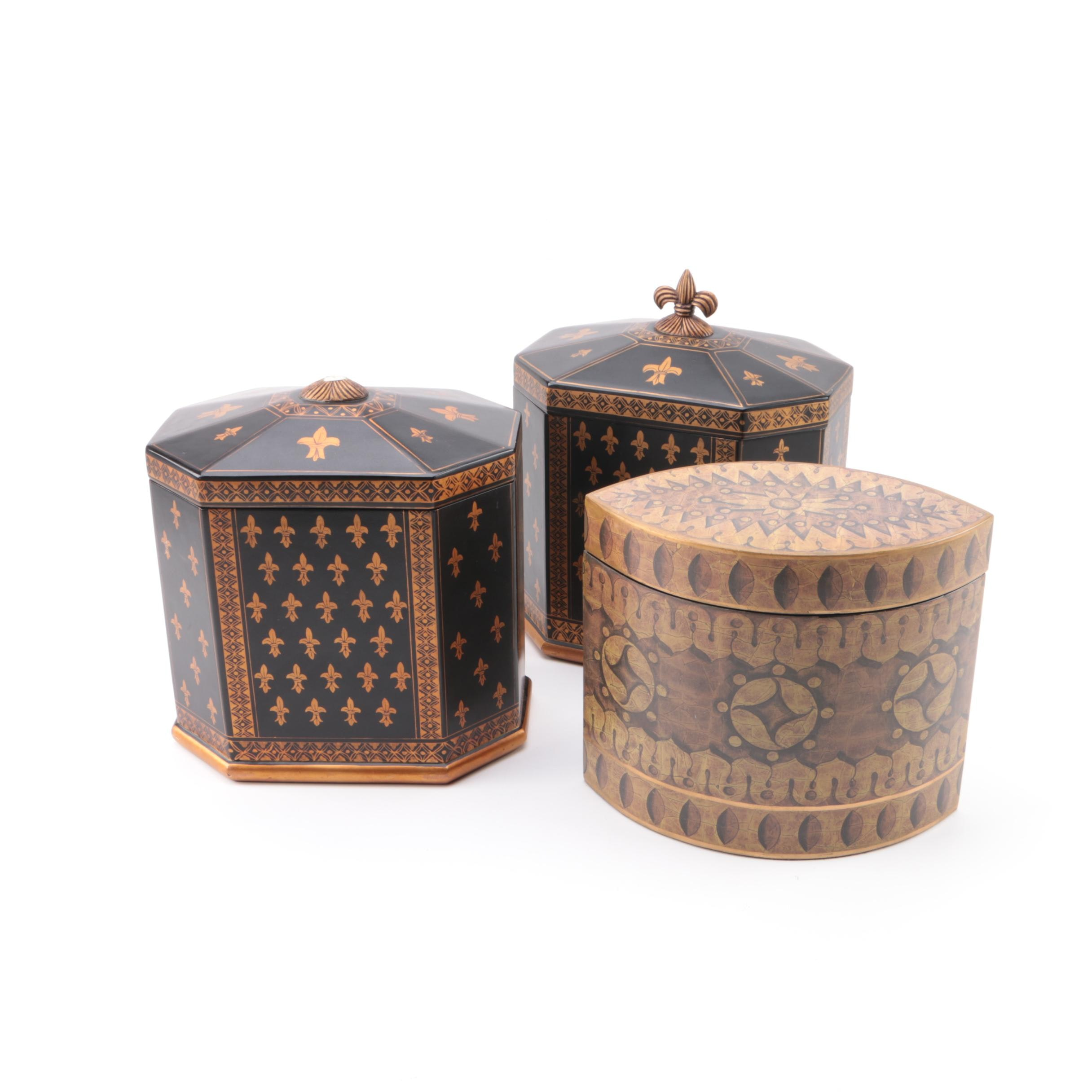 Contemporary Wood Decorative Boxes