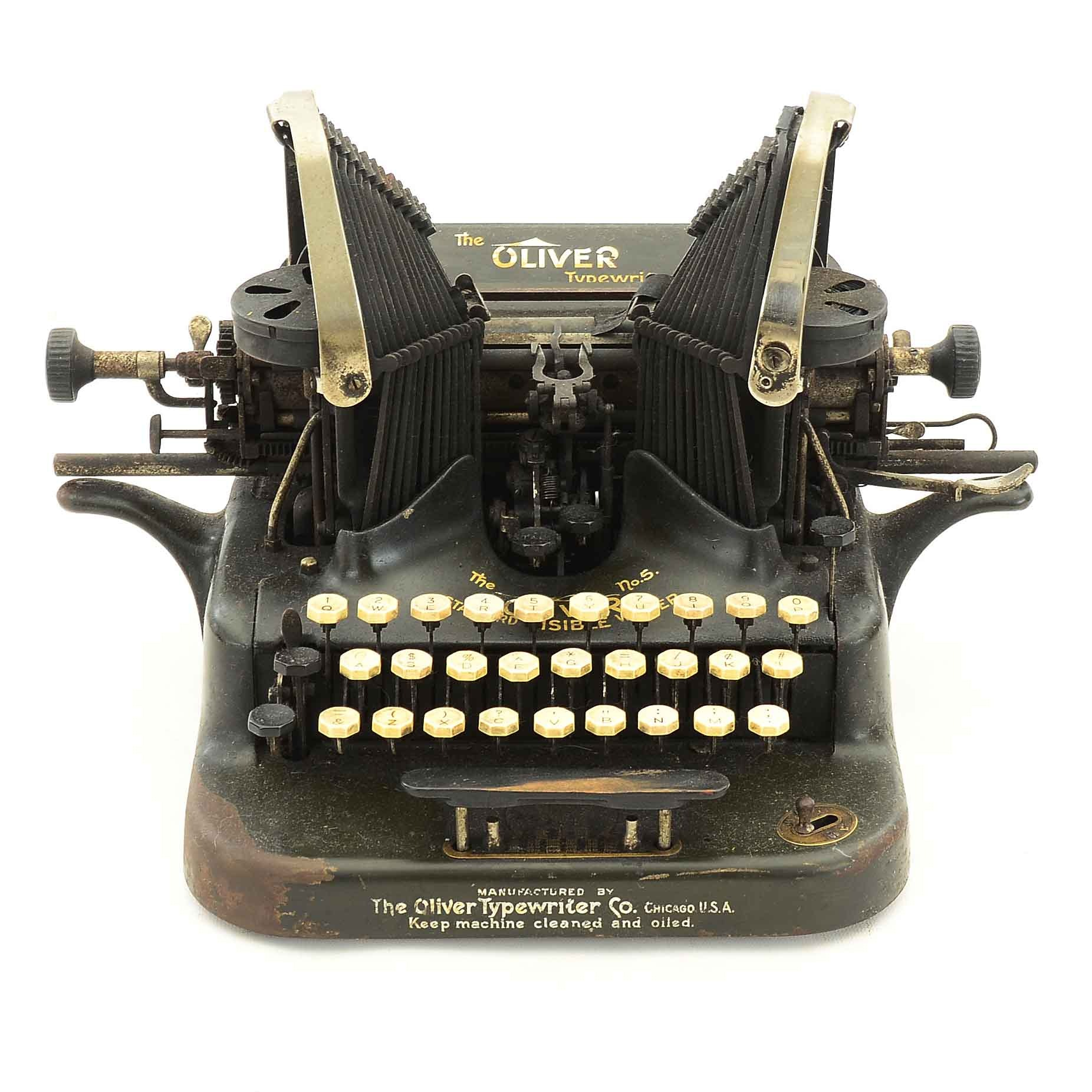 Circa 1907–1914 Oliver No. 5 Manual Typewriter