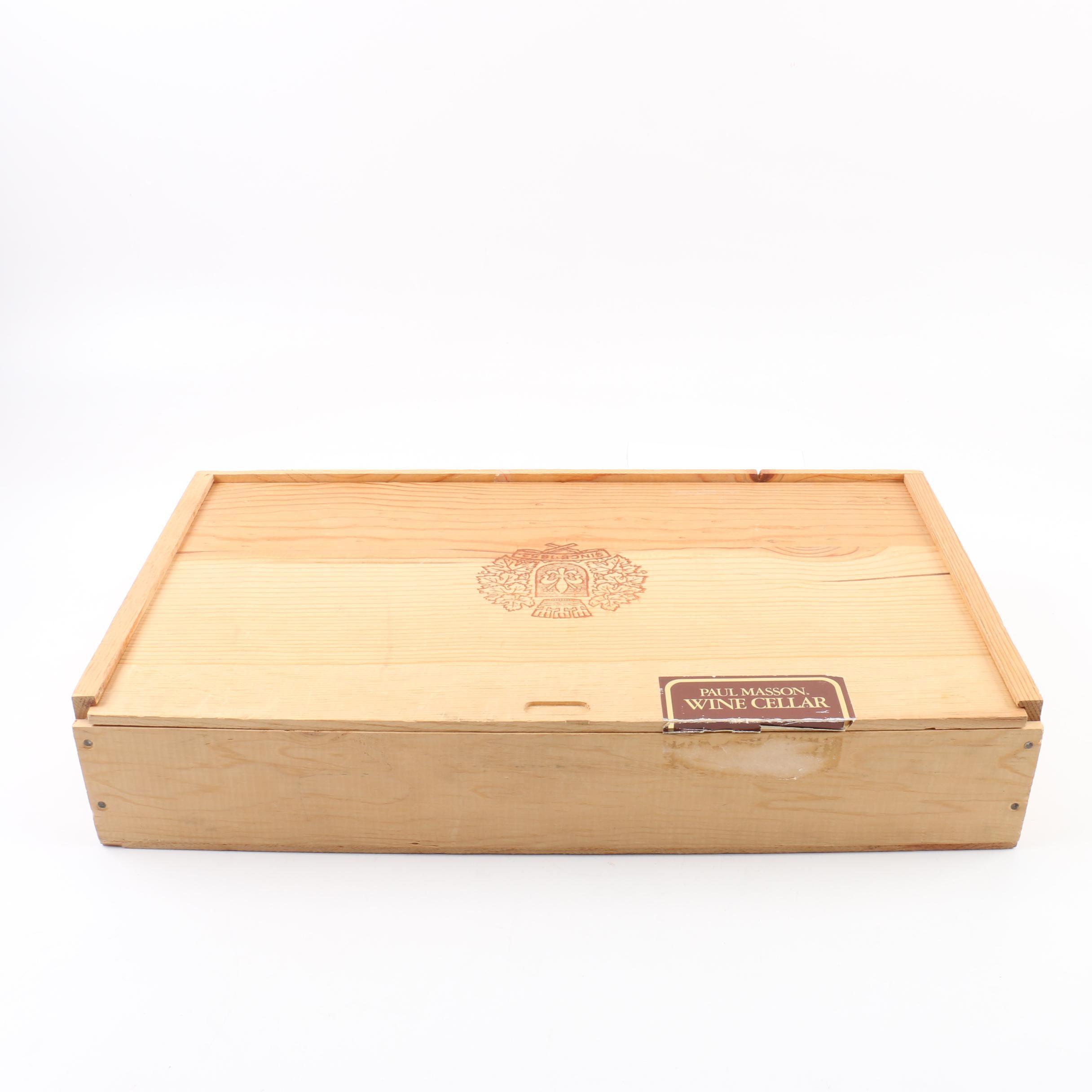 Paul Masson Wood Box