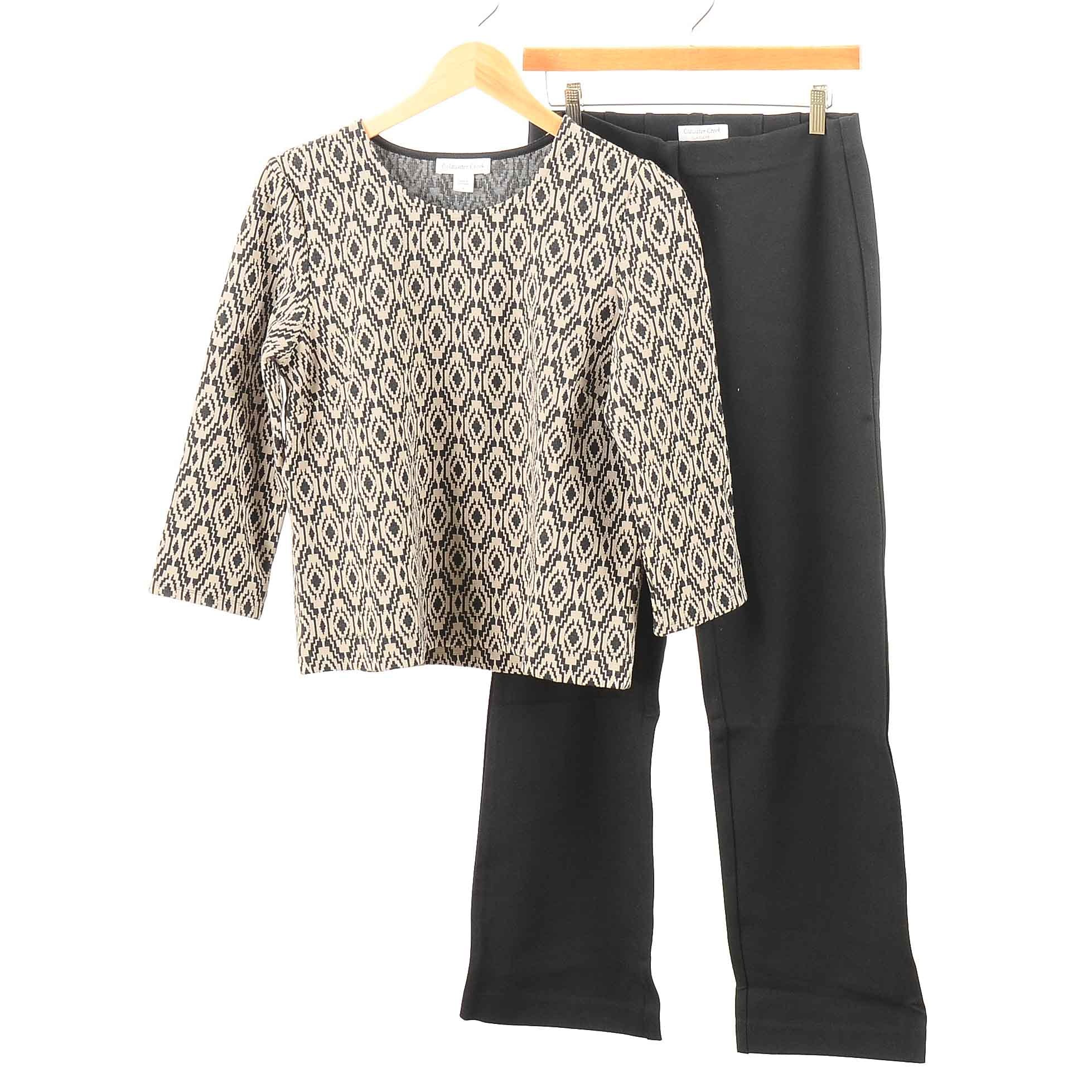 Women's Coldwater Creek Blouse and Pants