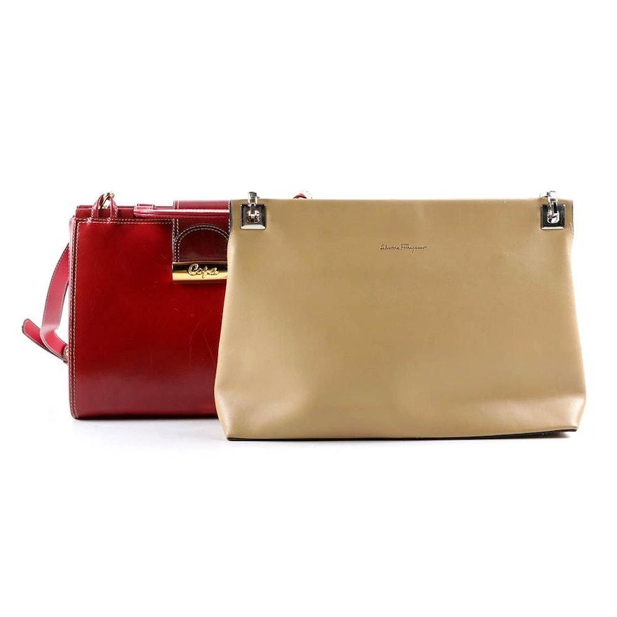 Salvatore Ferragamo and Cofa Leather Shoulder Bags   EBTH 0d5c03d55e15b