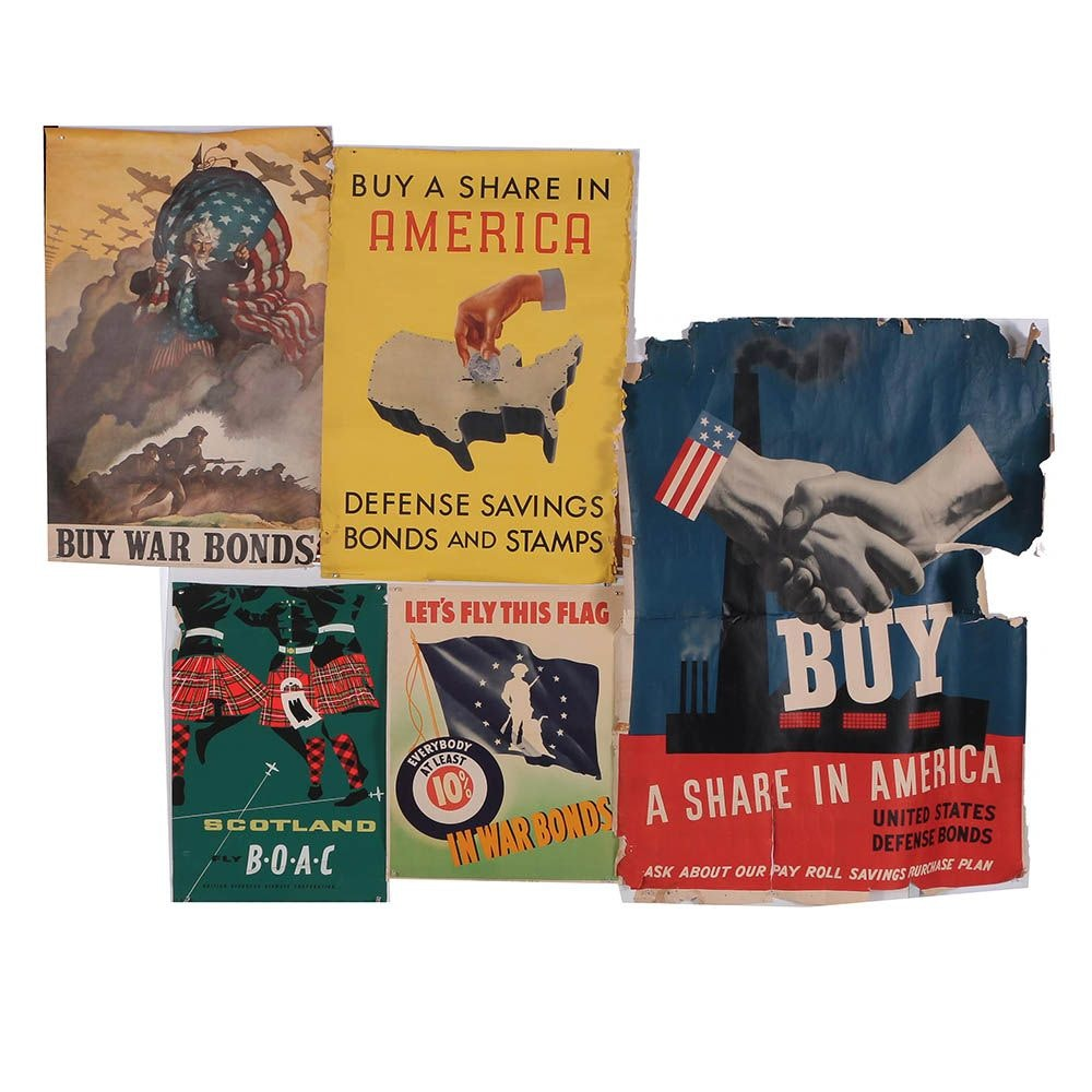 Print Advertisements for U.S. War Bonds