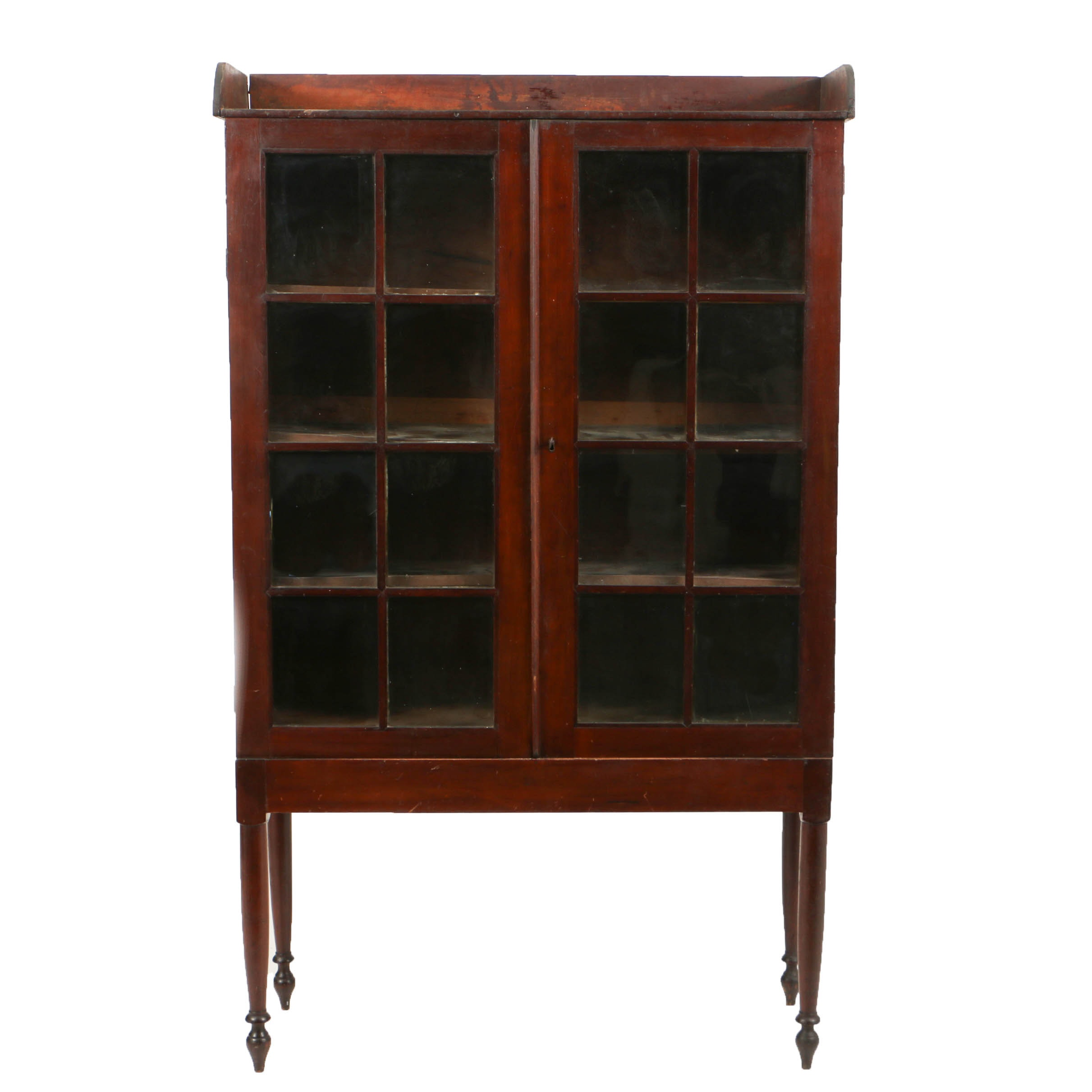 Antique Cherry Southern Glazed-Door Bookcase