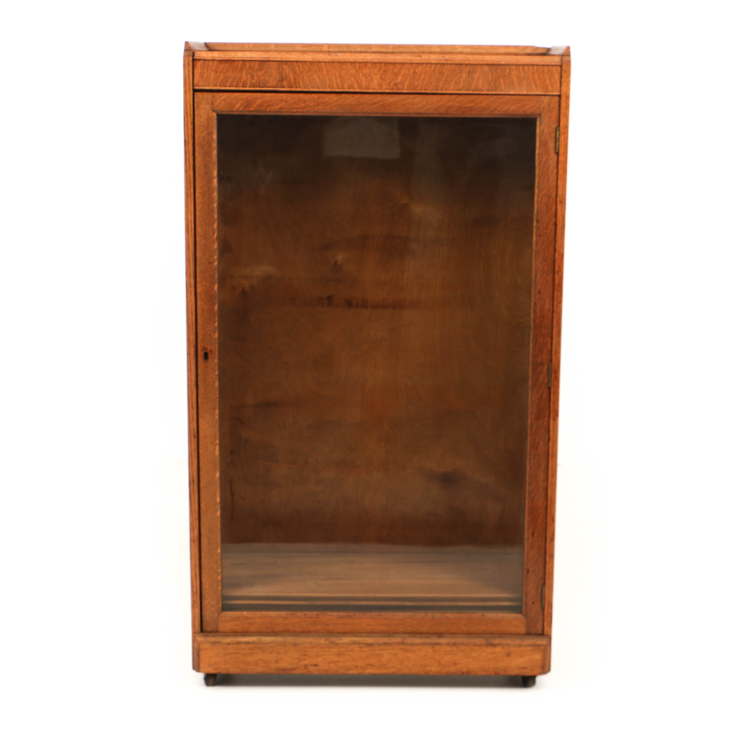 Early 20th Century Oak Glazed-Door Bookcase