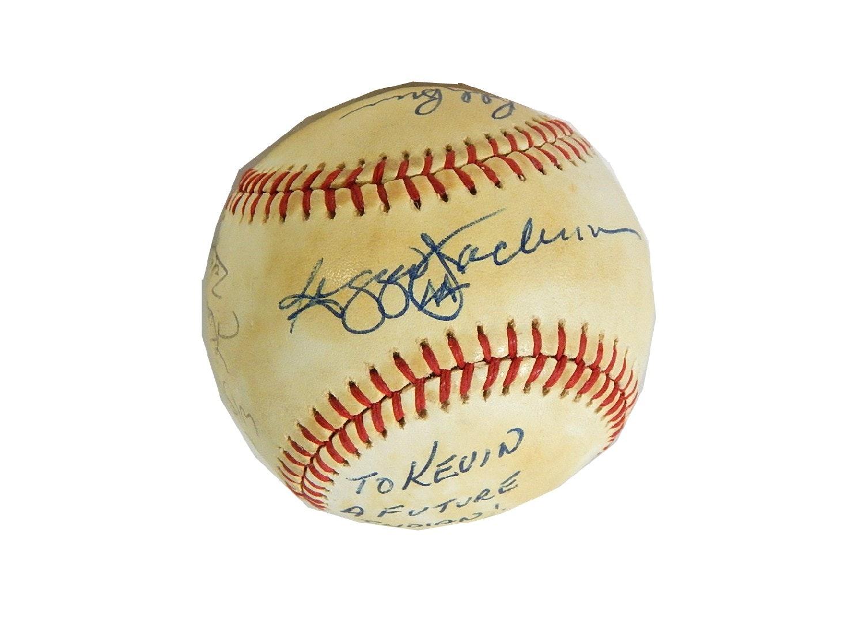 New York Yankees HOF Reggie Jackson and Tommy John Signed Baseball