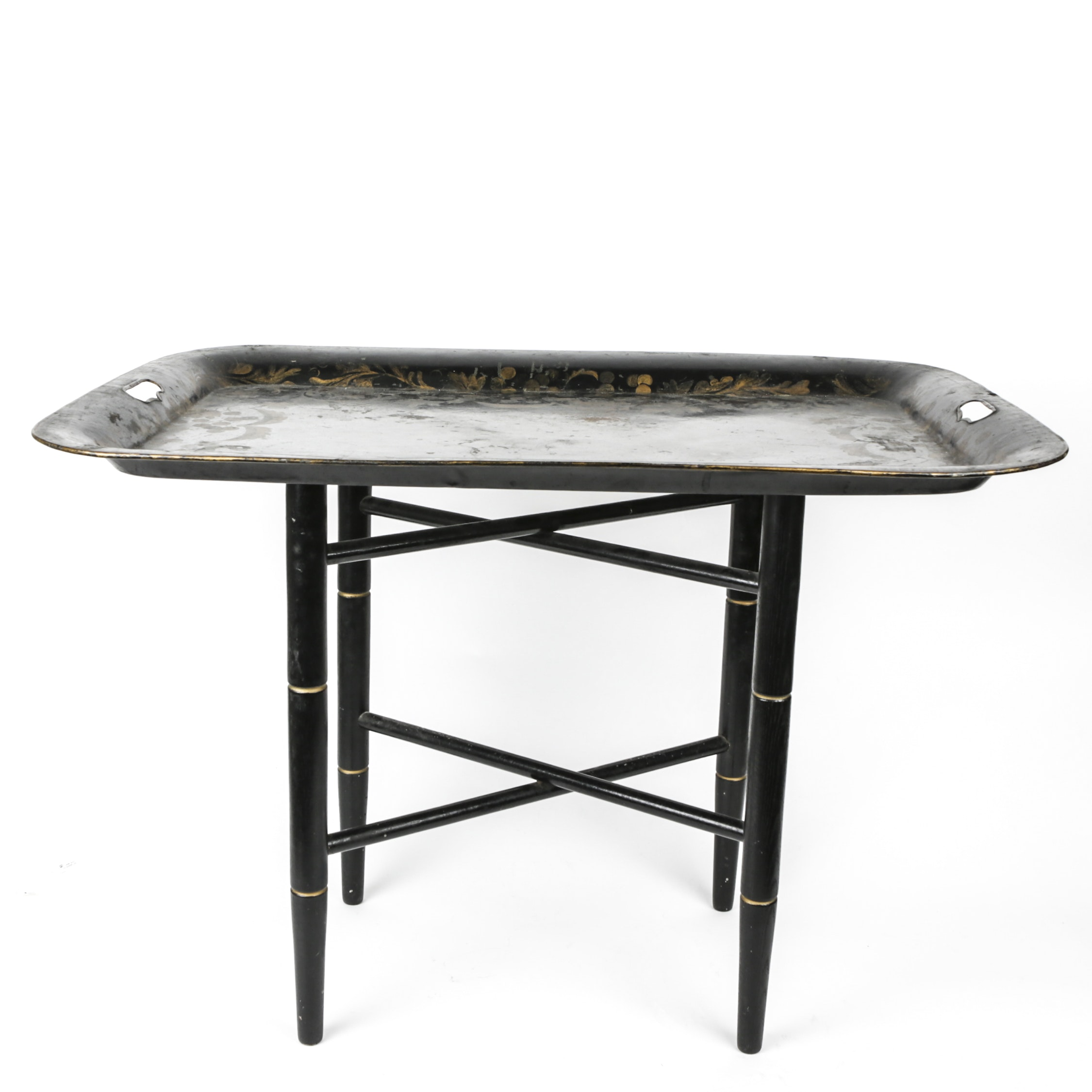 Vintage Metal Tray-Top Table
