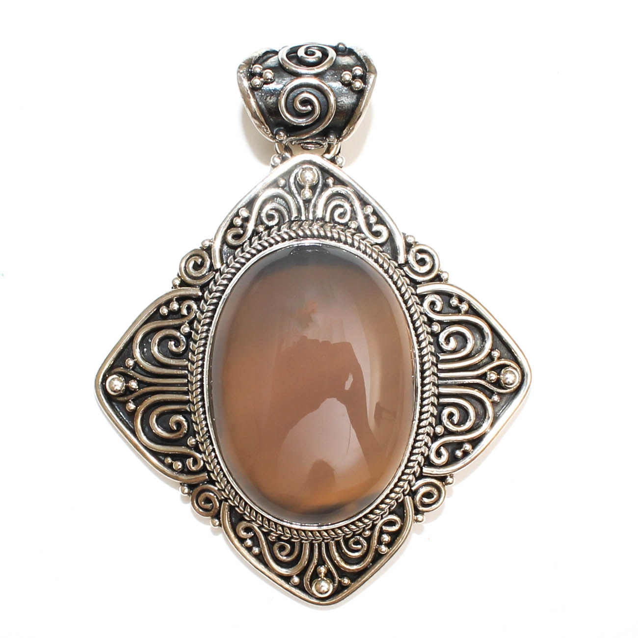 Suarti of Bali Sterling Silver and Chalcedony Pendant