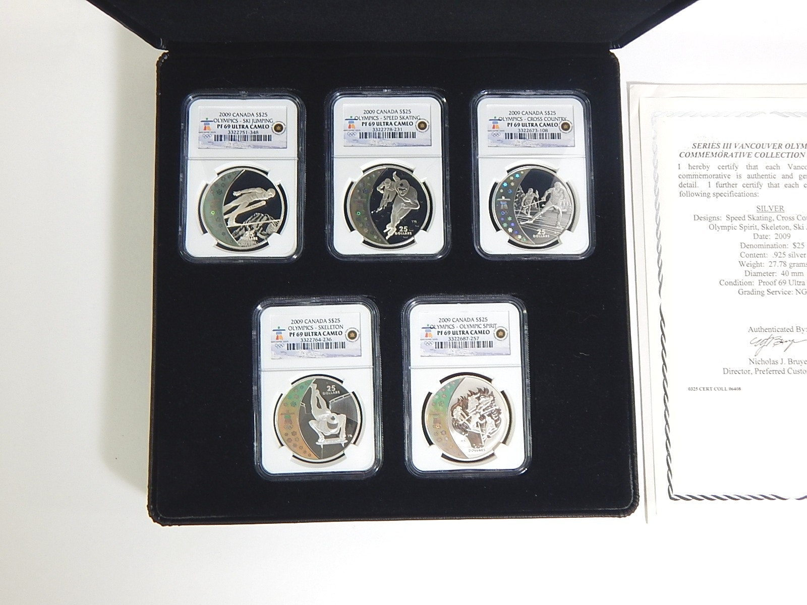2009 Collection of Vancouver Winter Olympics Silver Coins