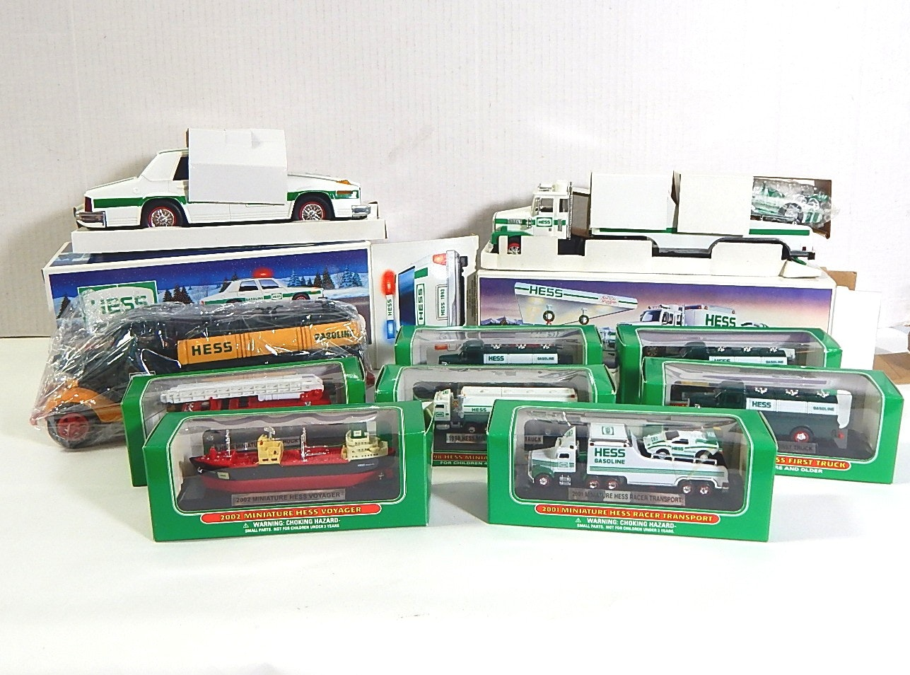 Collection of HESS Trucks and Cars