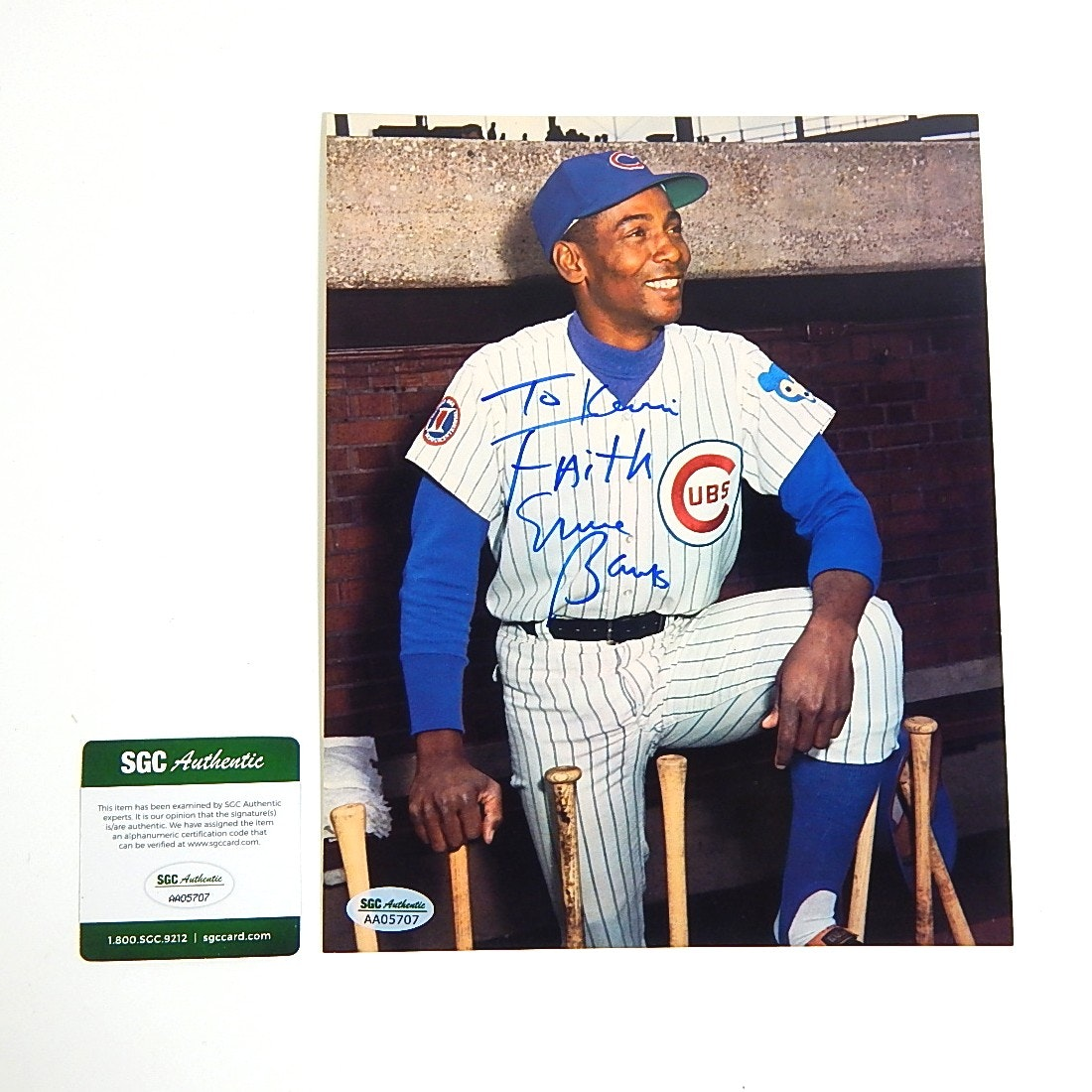 SGC Authenticated HOF Ernie Banks Autograph