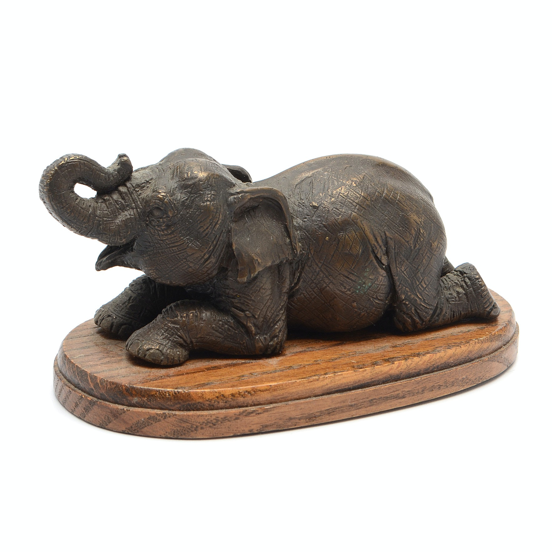 Bronze Elephant Paperweight