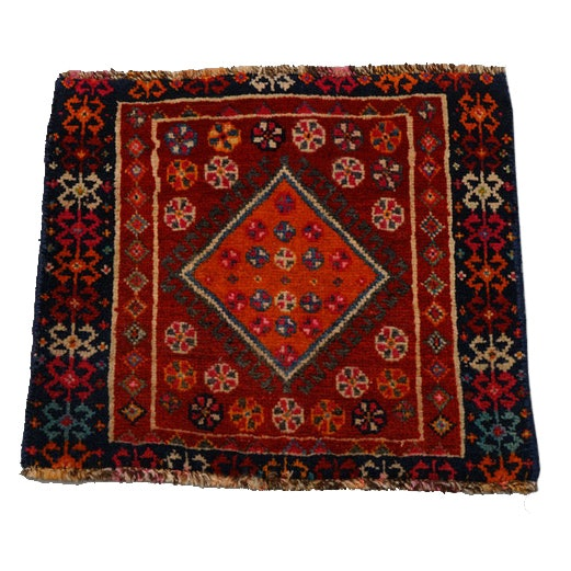 Hand-Knotted Kurdish Wool Accent Rug