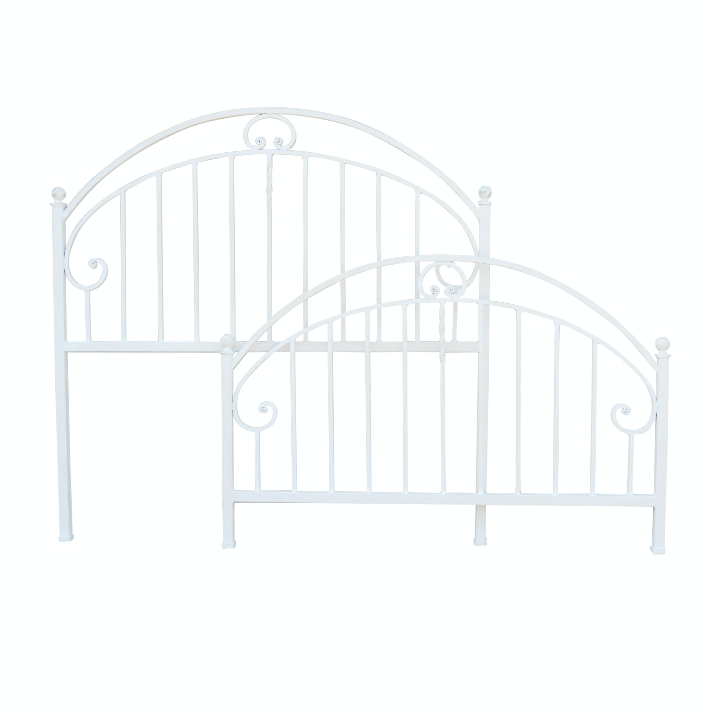 Ethan Allen White Iron Queen Bed Frame