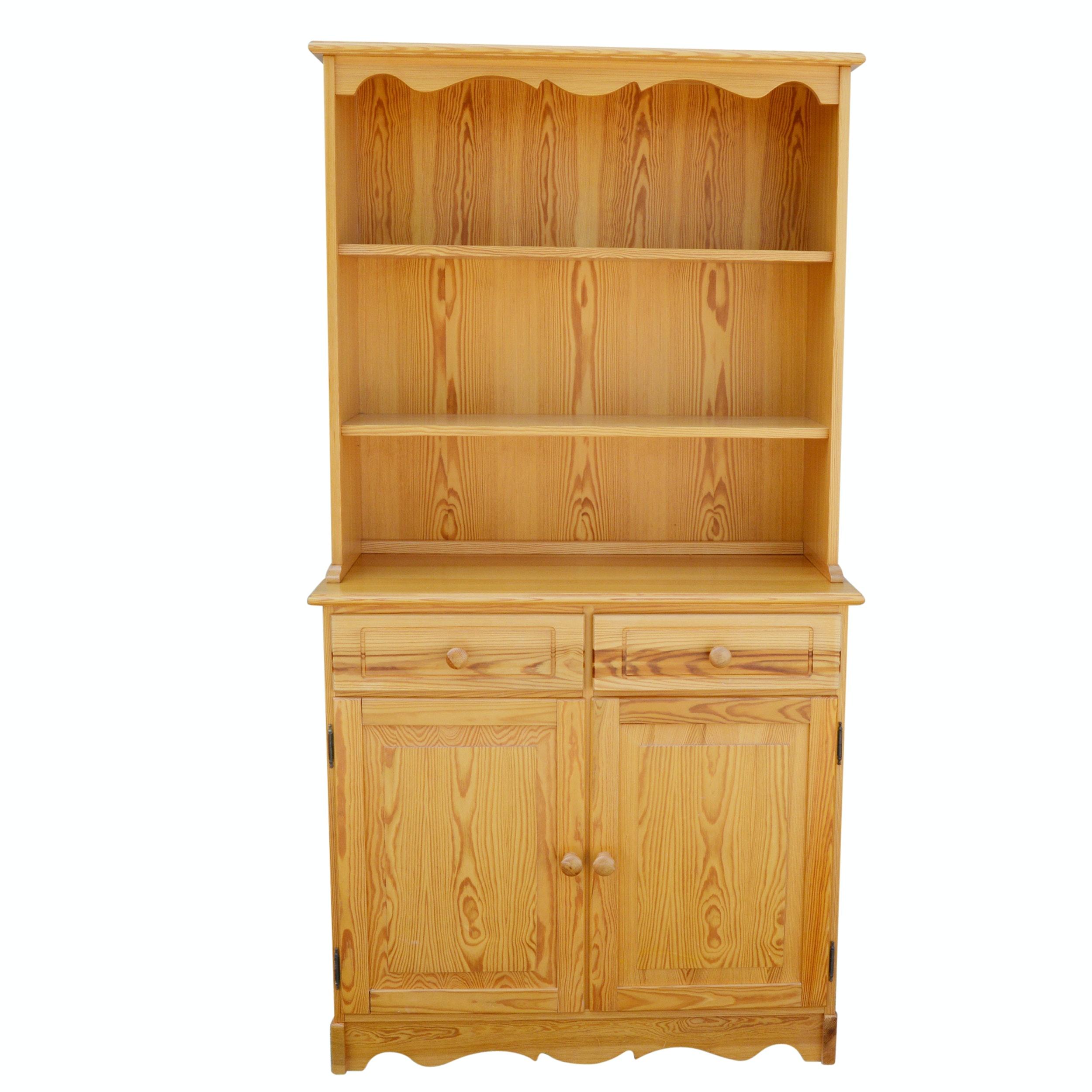 Oak Cupboard With Hutch