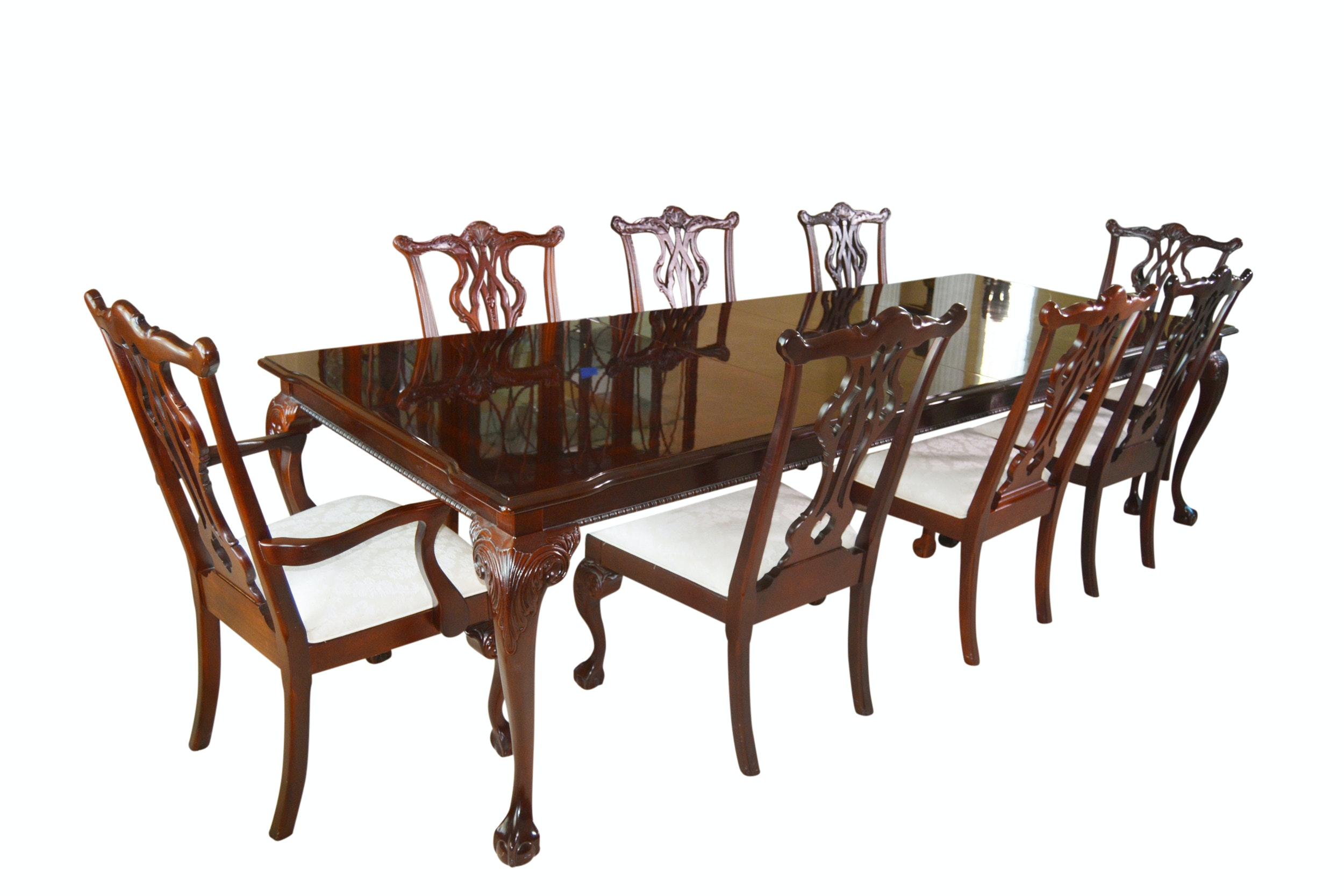 Thomasville Chippendale Style Dining Room Table and Chairs