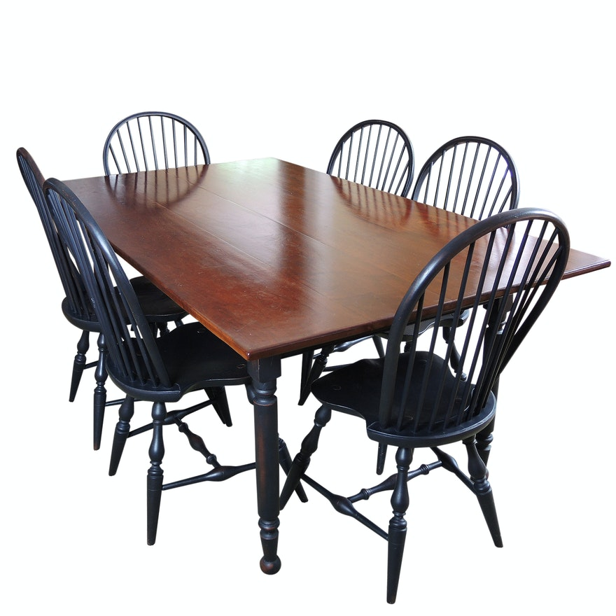 Early American Style Lawrence Crouse Handmade Dining Set