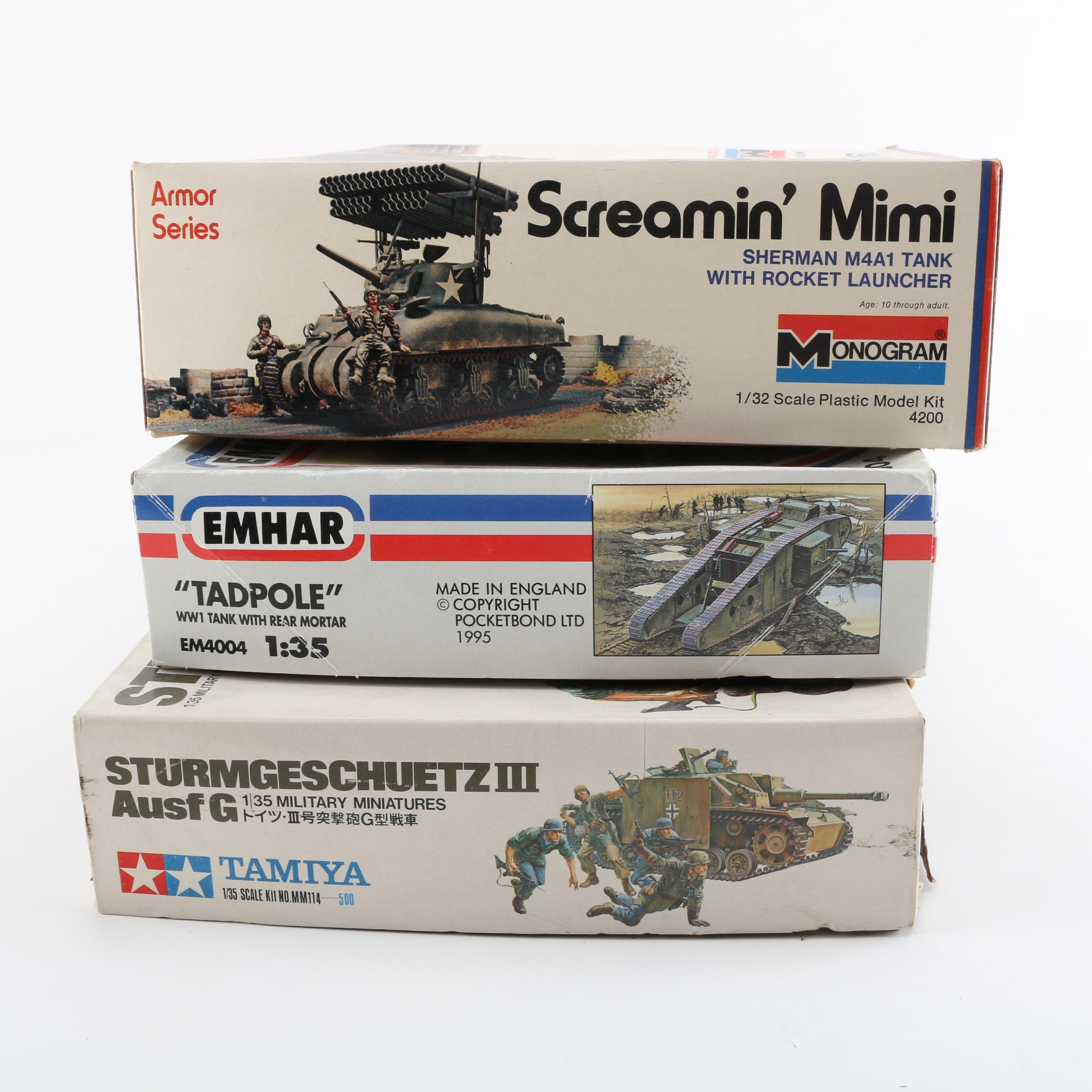 Military Vehicle Model Kits Including Monogram