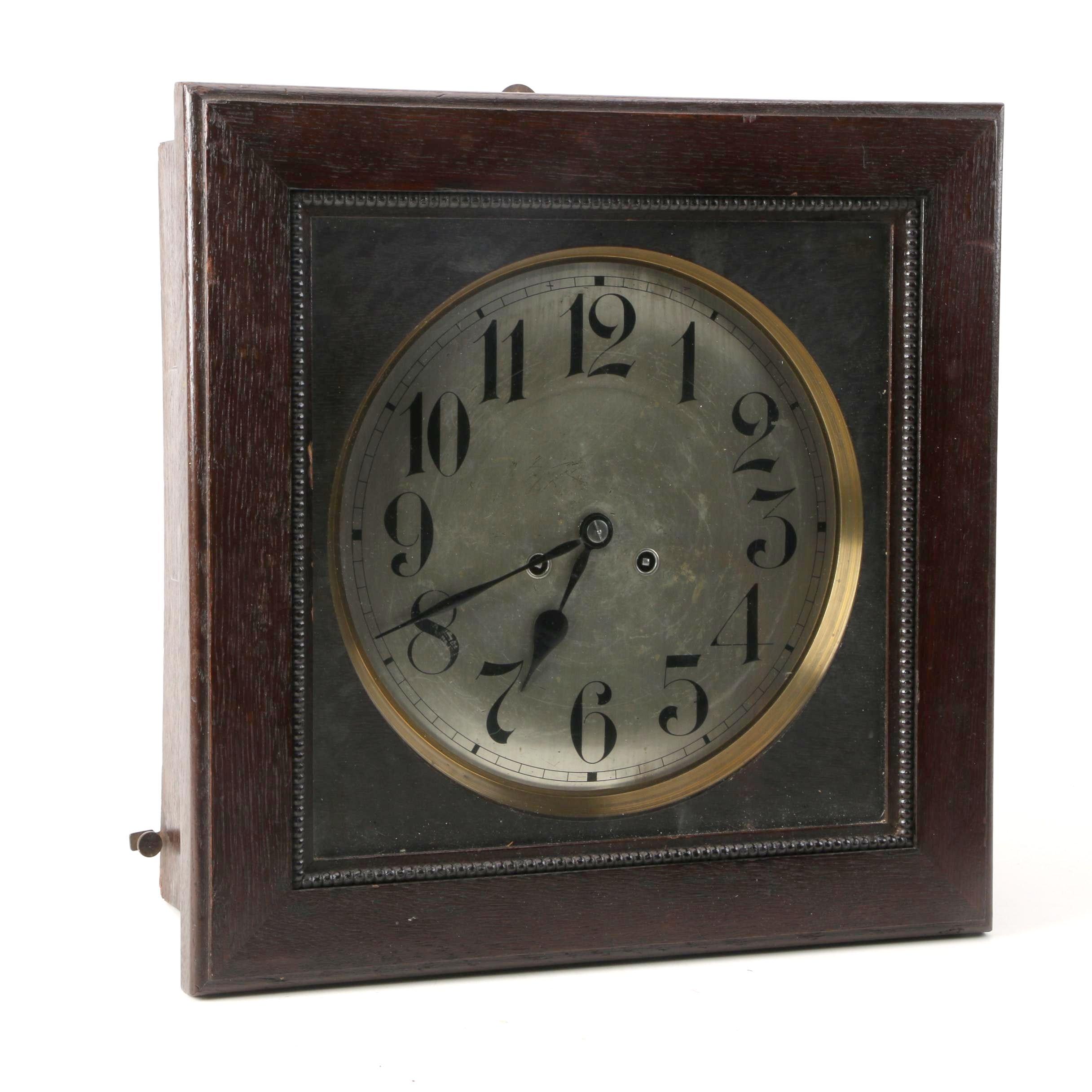 Antique Junghans Wood Wall Clock