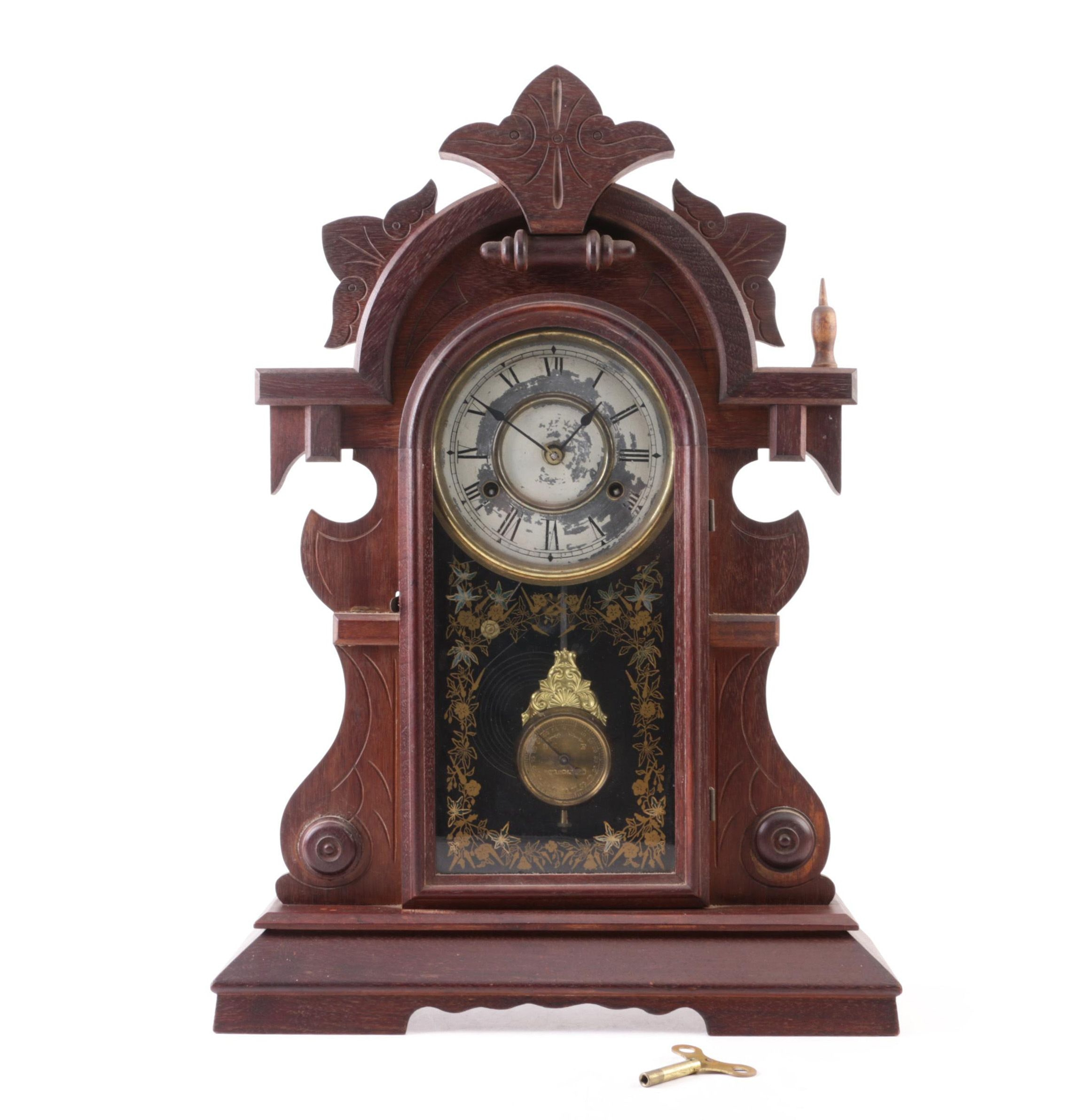 19th Century Eastlake Style Gingerbread Mantel Clock