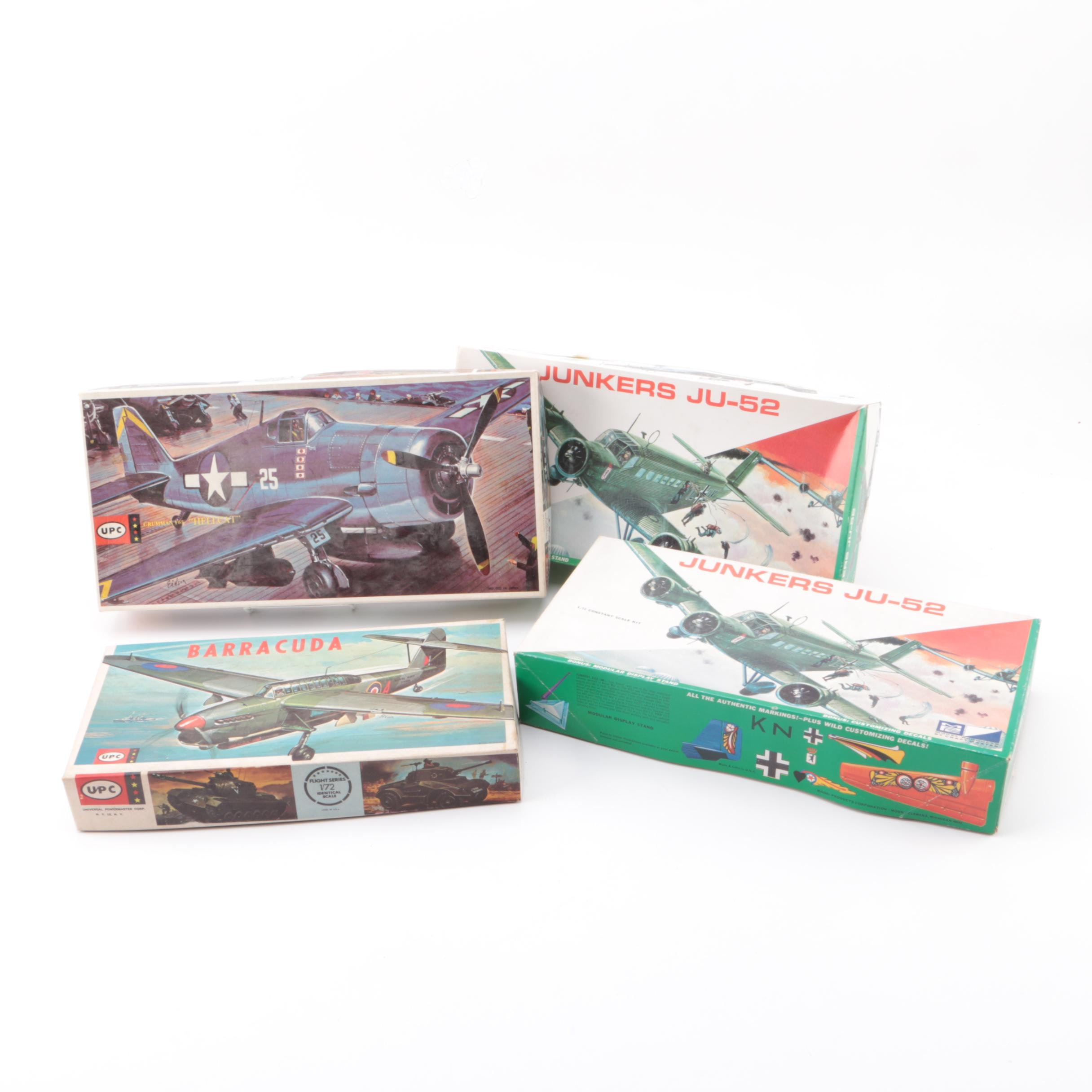 UPC and MPC Military Aircraft Model Kits