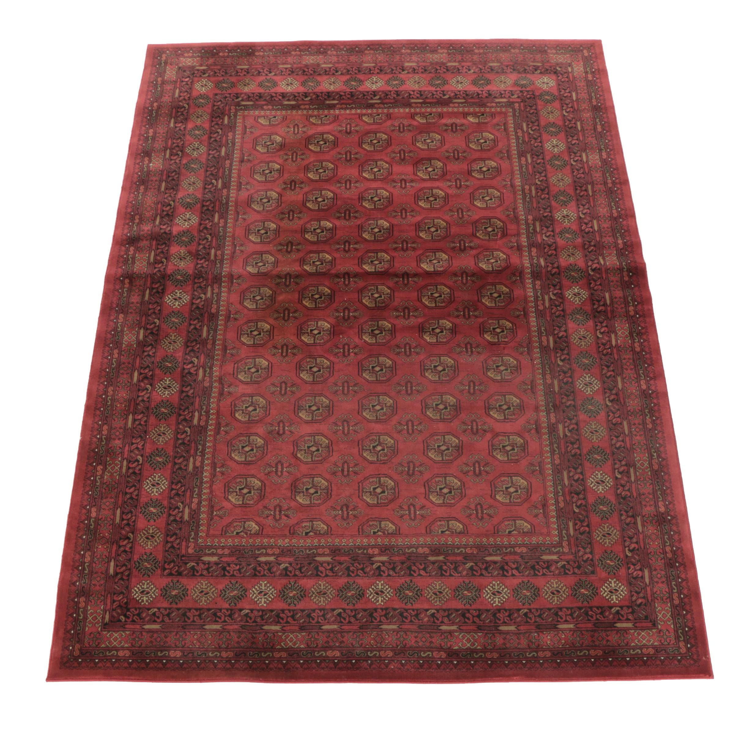 Powered-Loomed Bokhara-Style Area Rug