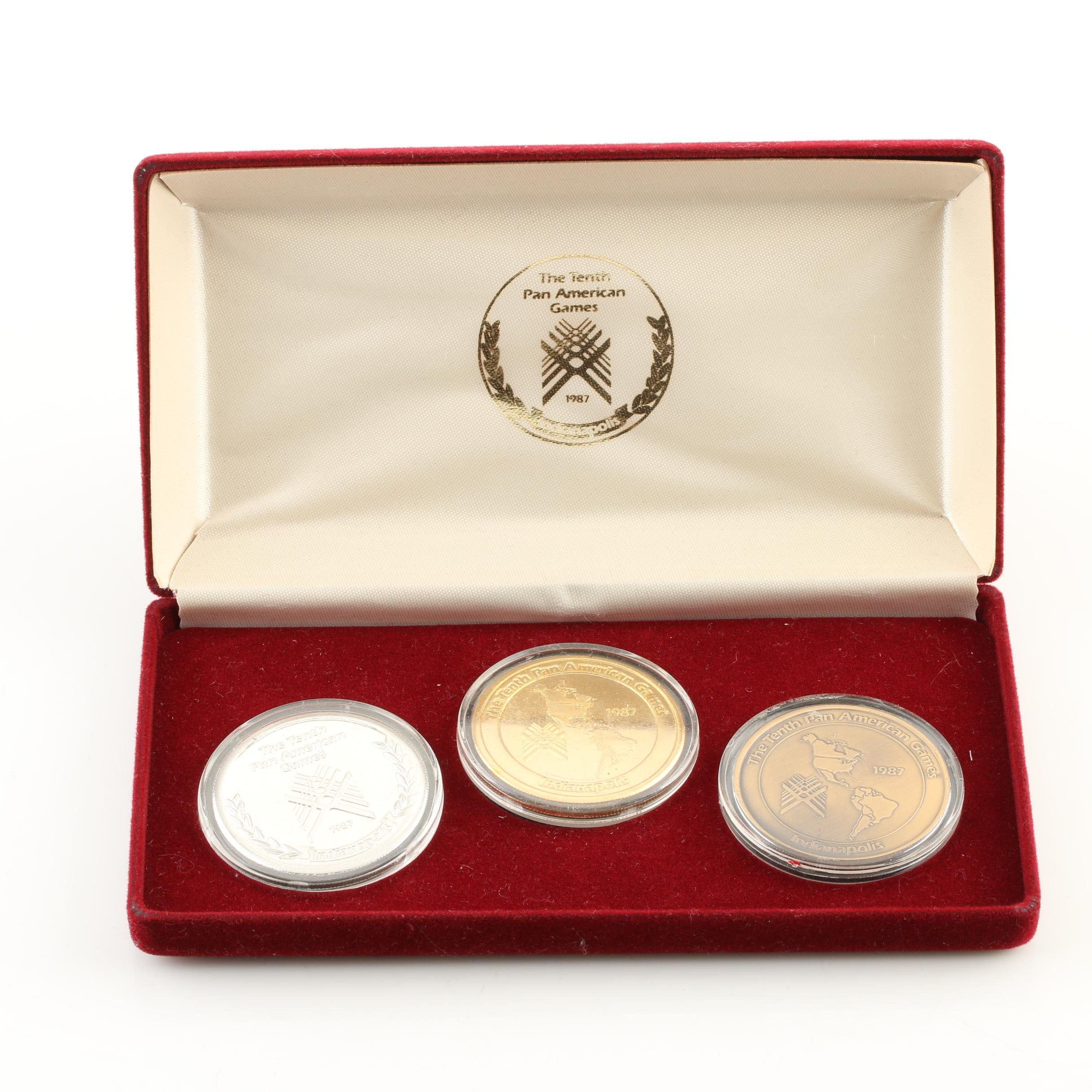 1987 Pan American Games Three Medal Set
