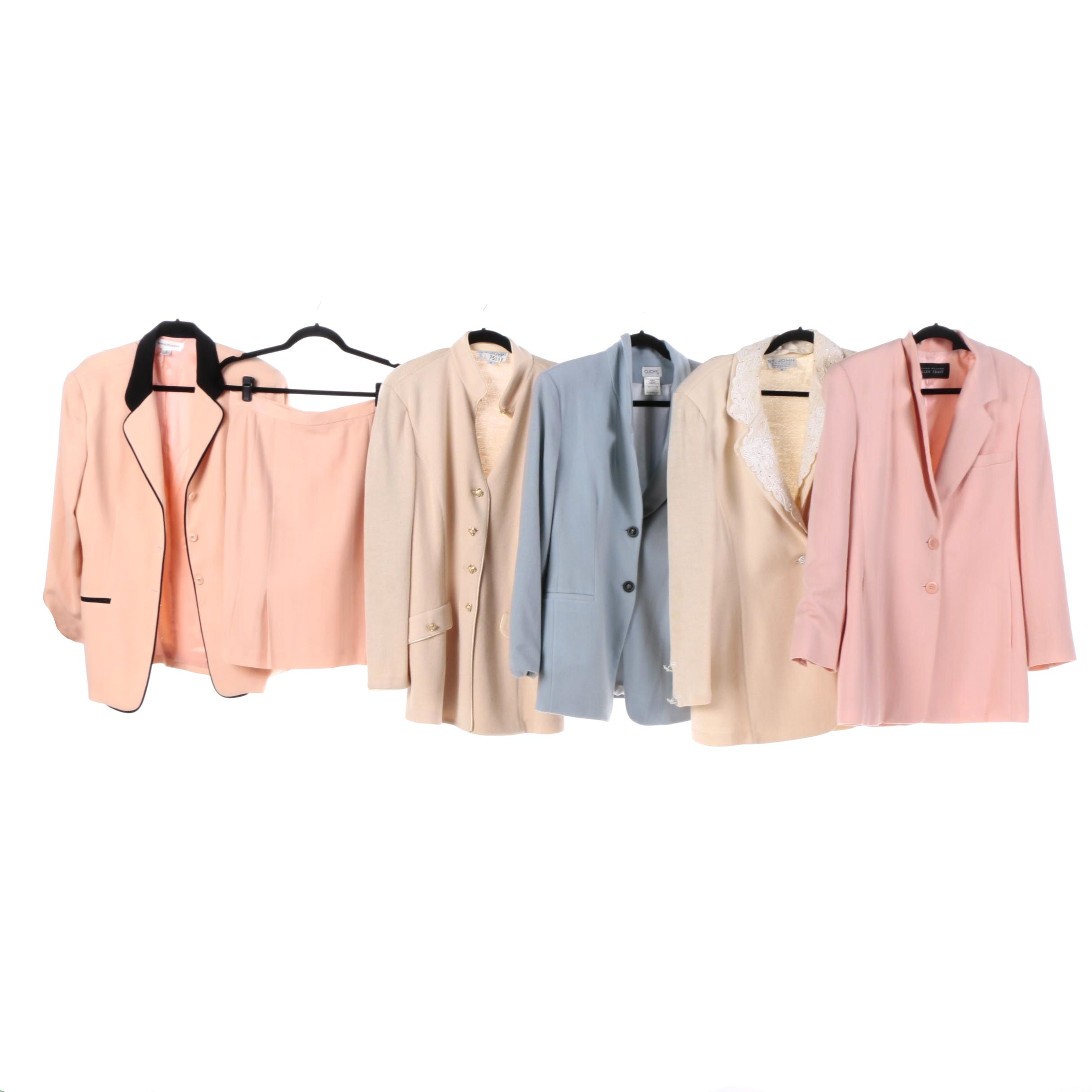 Skirt Suit and Jackets Featuring St. John Knits