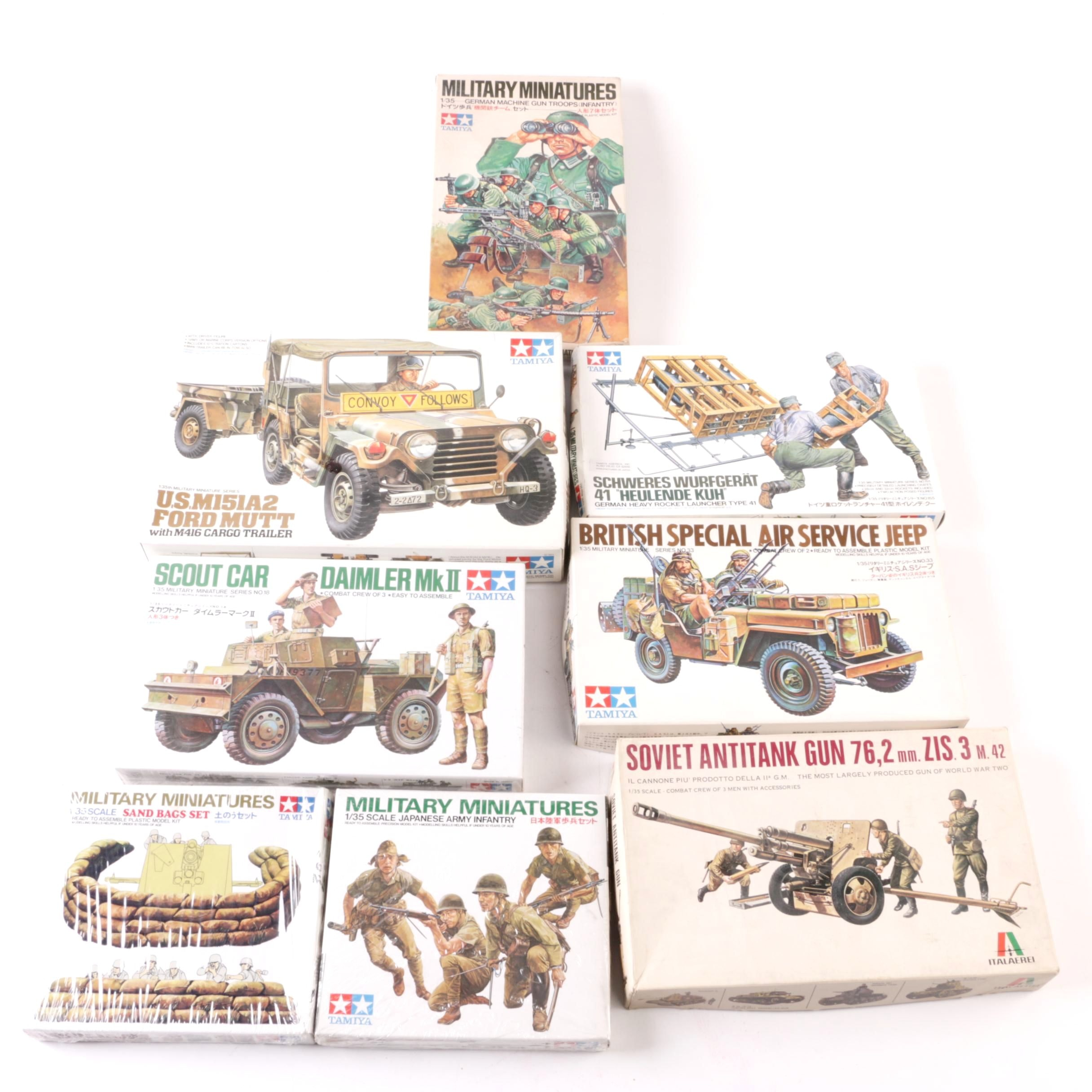 Tamiya and Italaerei Military Model Kits and Miniatures