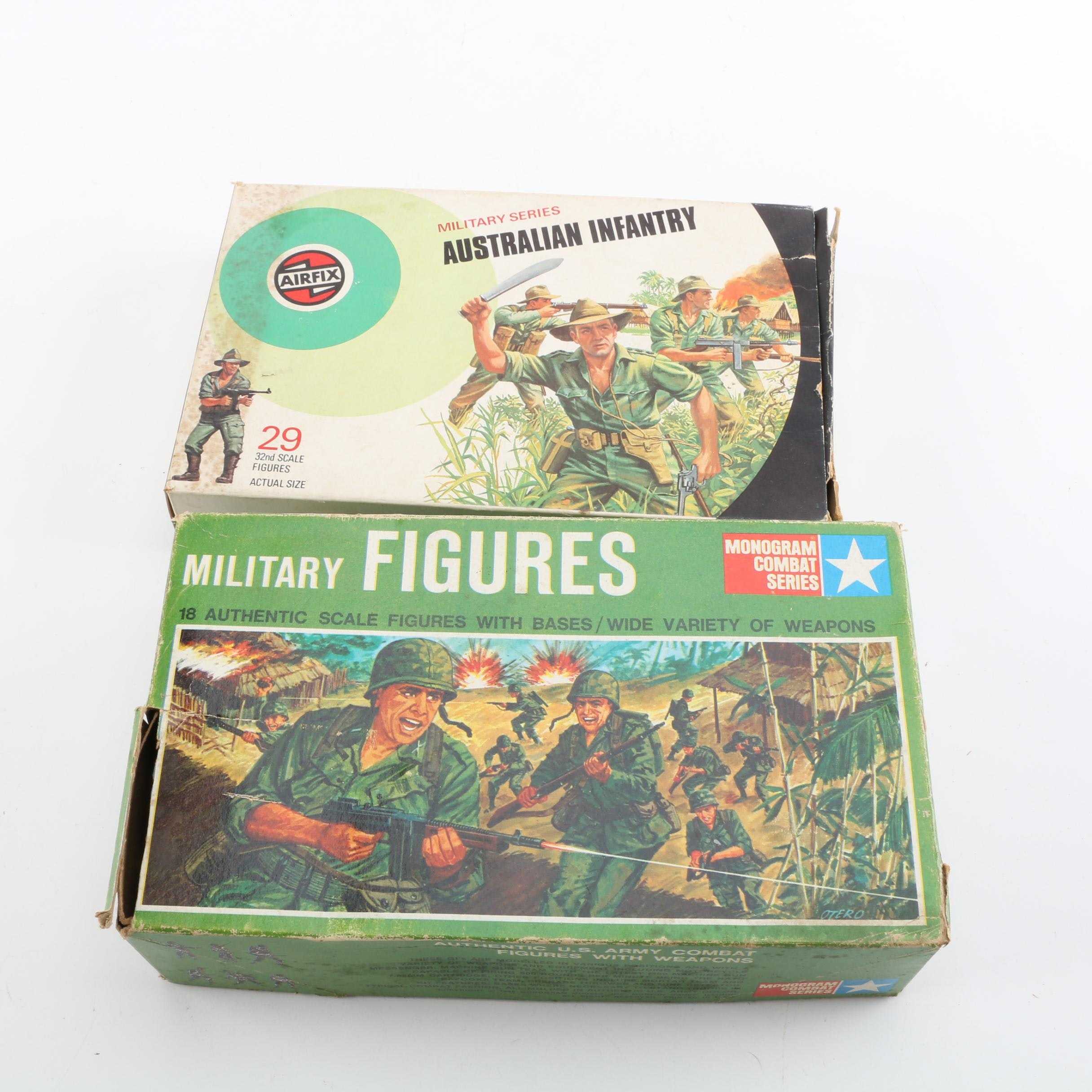 Airfix Australian Infantry and Monogram Combat Series Toy Soldiers