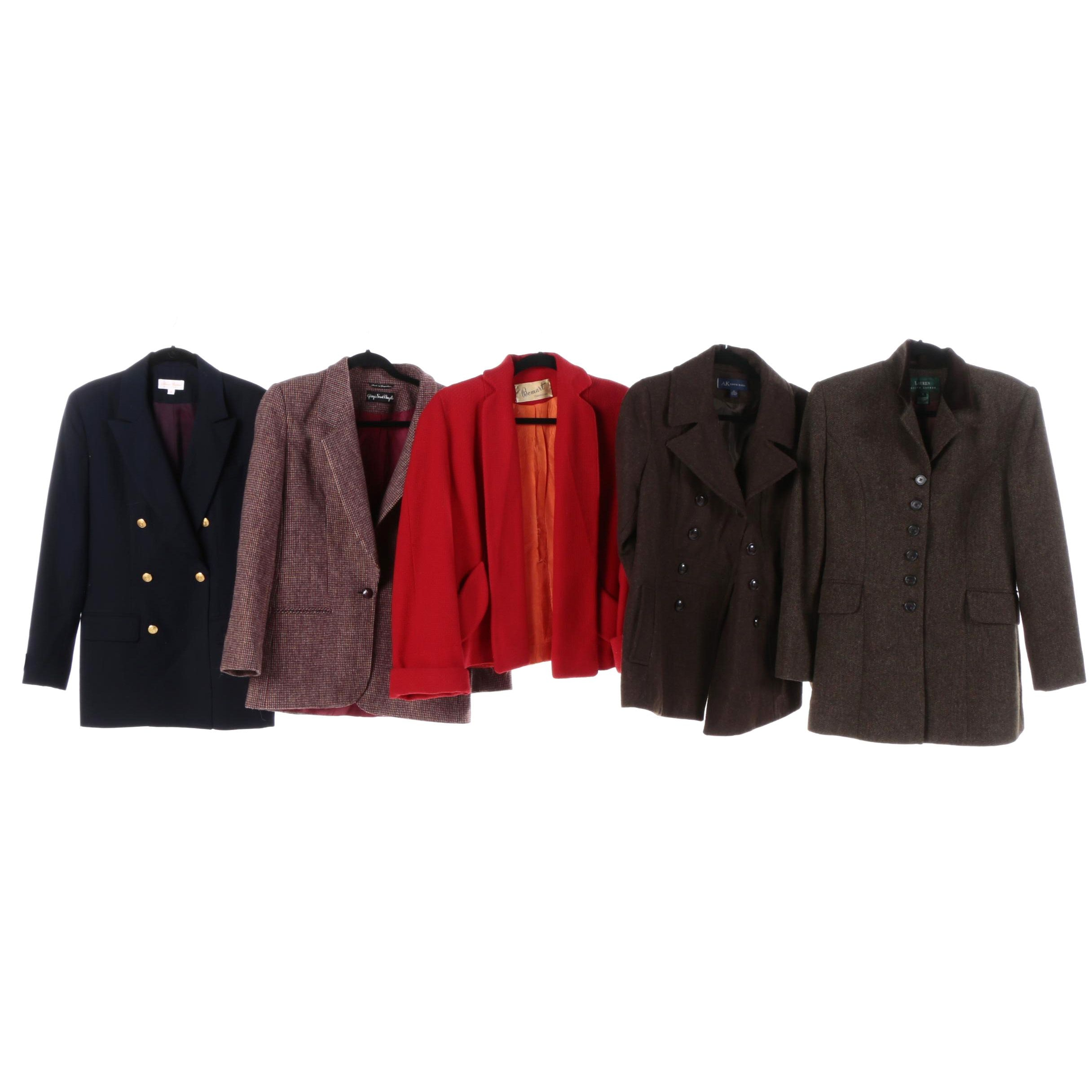 Women's Vintage and Contemporary Jackets Including Brooks Brothers