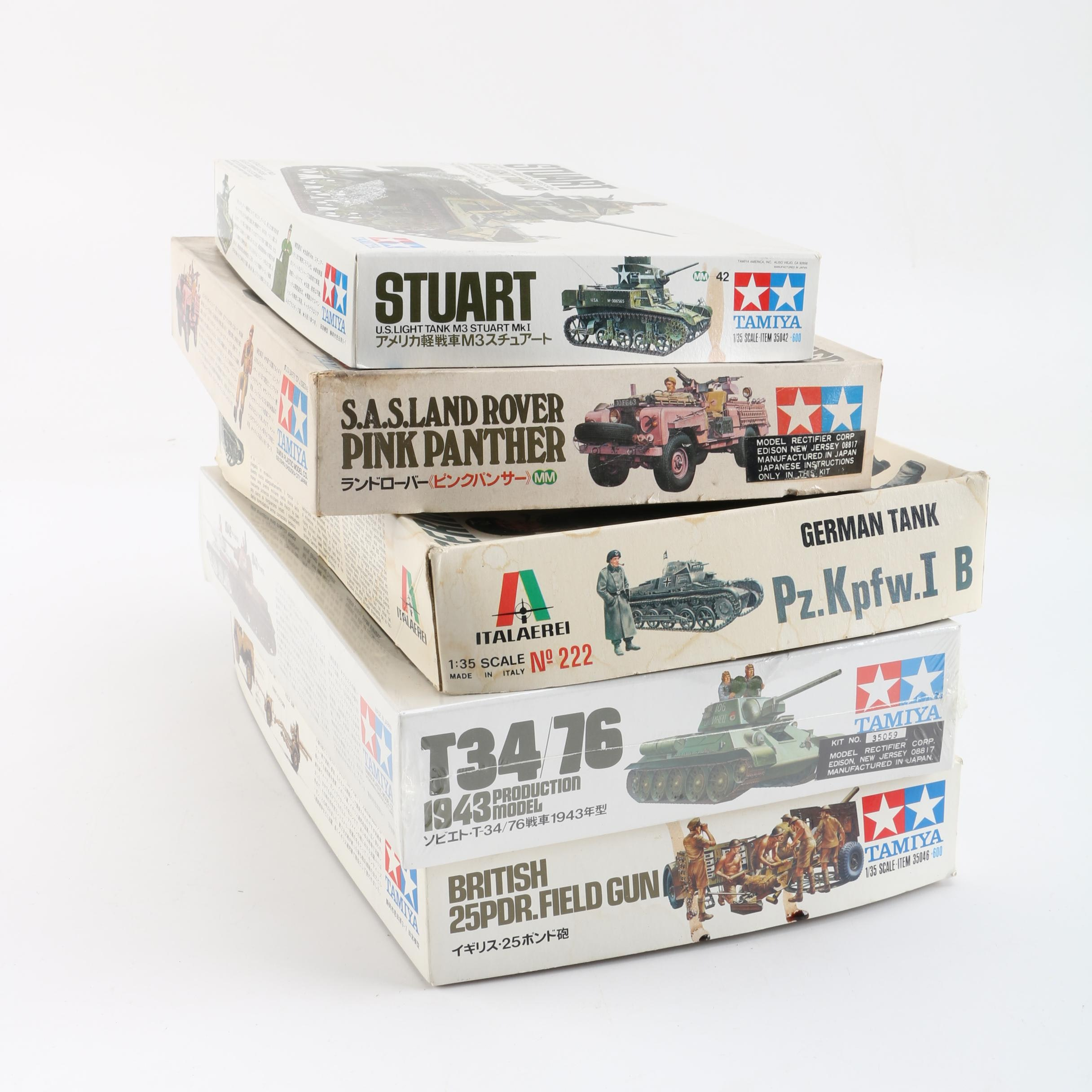 Tamiya and Italaerei Military Vehicle Model Kits
