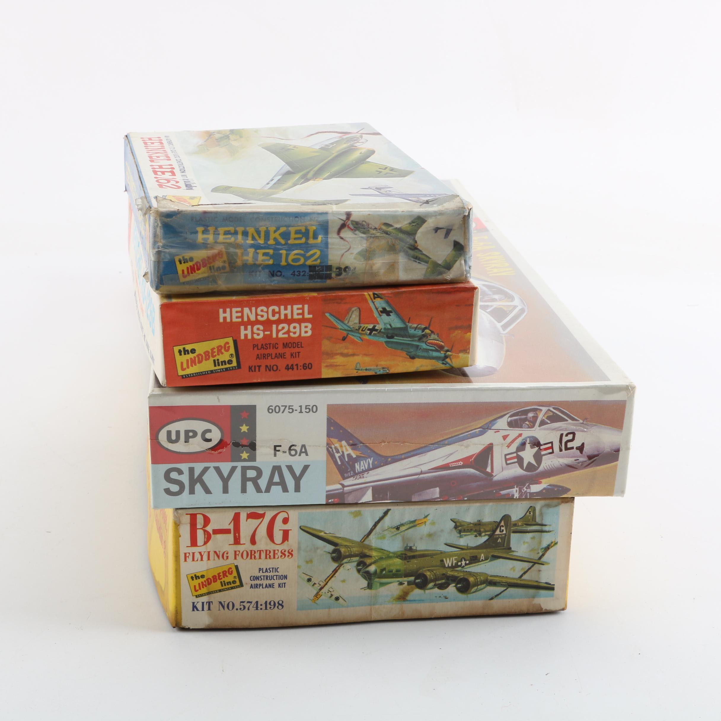 Military Aircraft Model Kits Including Lindberg