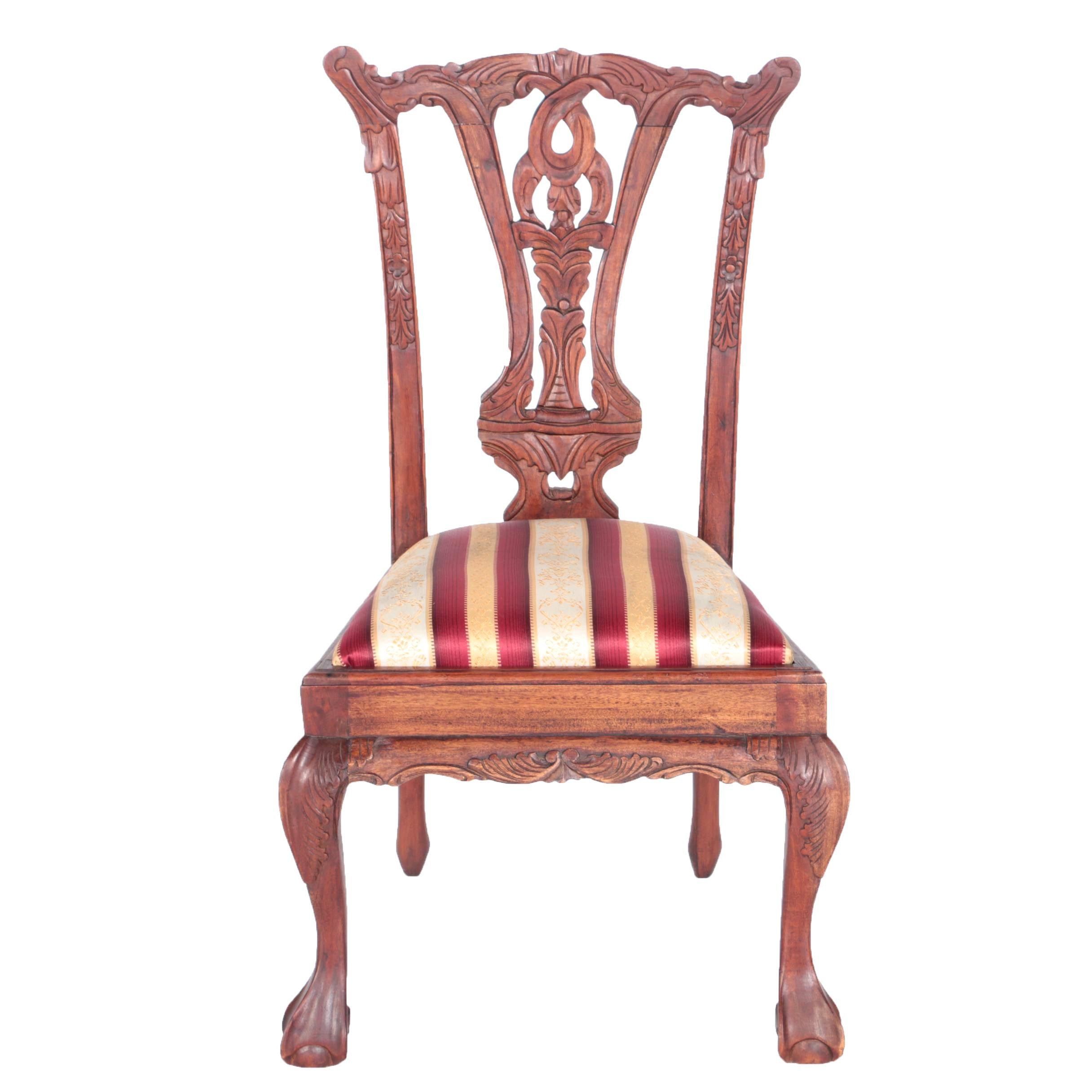 Vintage Chippendale Style Mahogany Child's Chair
