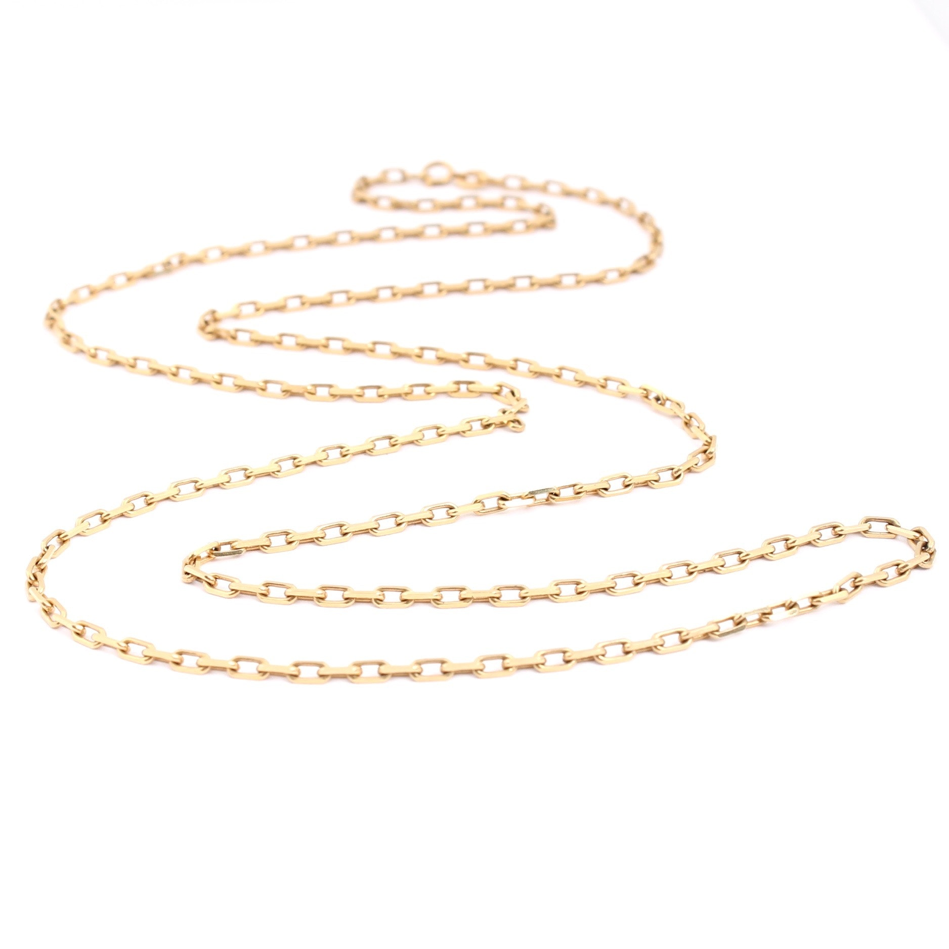 Balestra 18K Yellow Gold Drawn Cable Link Necklace Chain